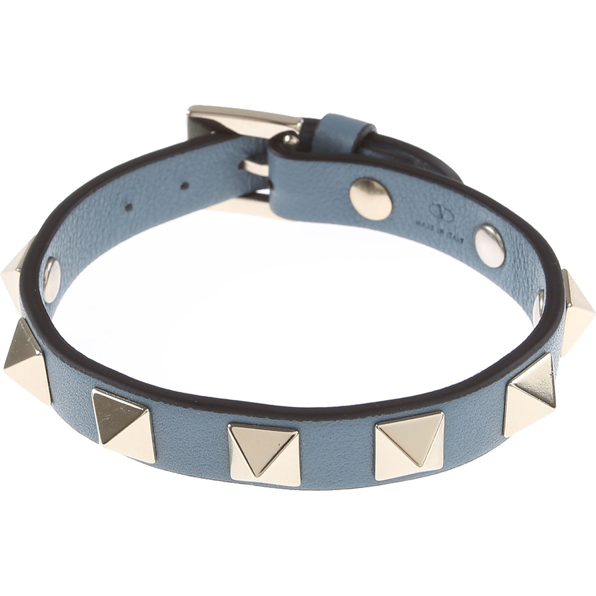 Valentino Bracelet for Women, Blue, Leather, 2019