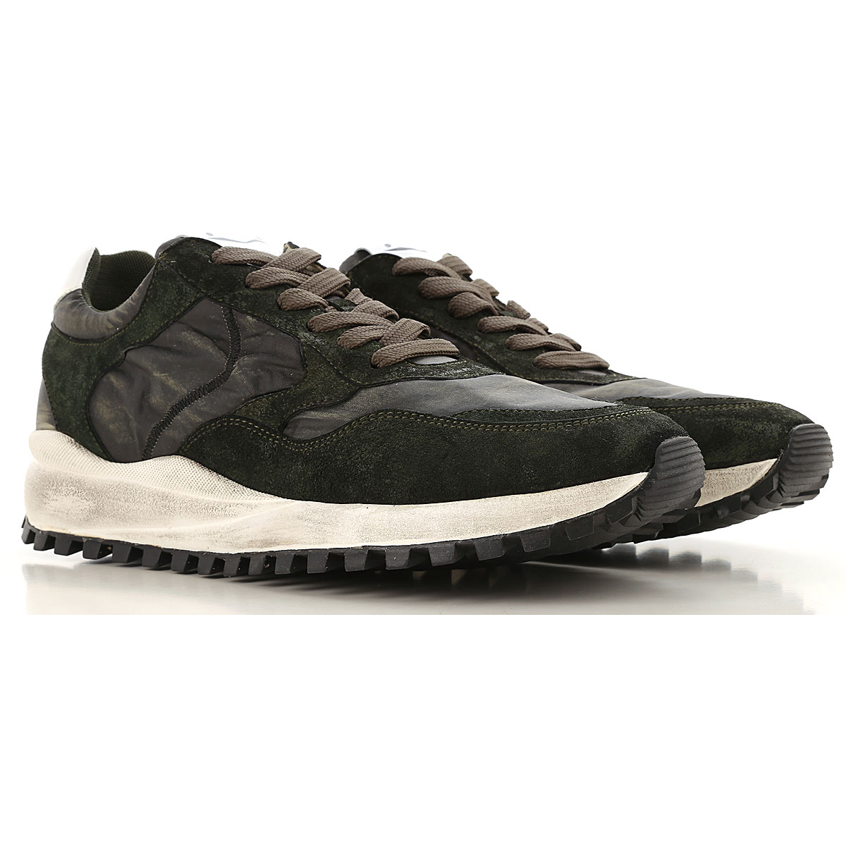 Image of Voile Blanche Sneakers for Men, Dark Green, Nylon, 2017, 10 10.5 7.5 8 9