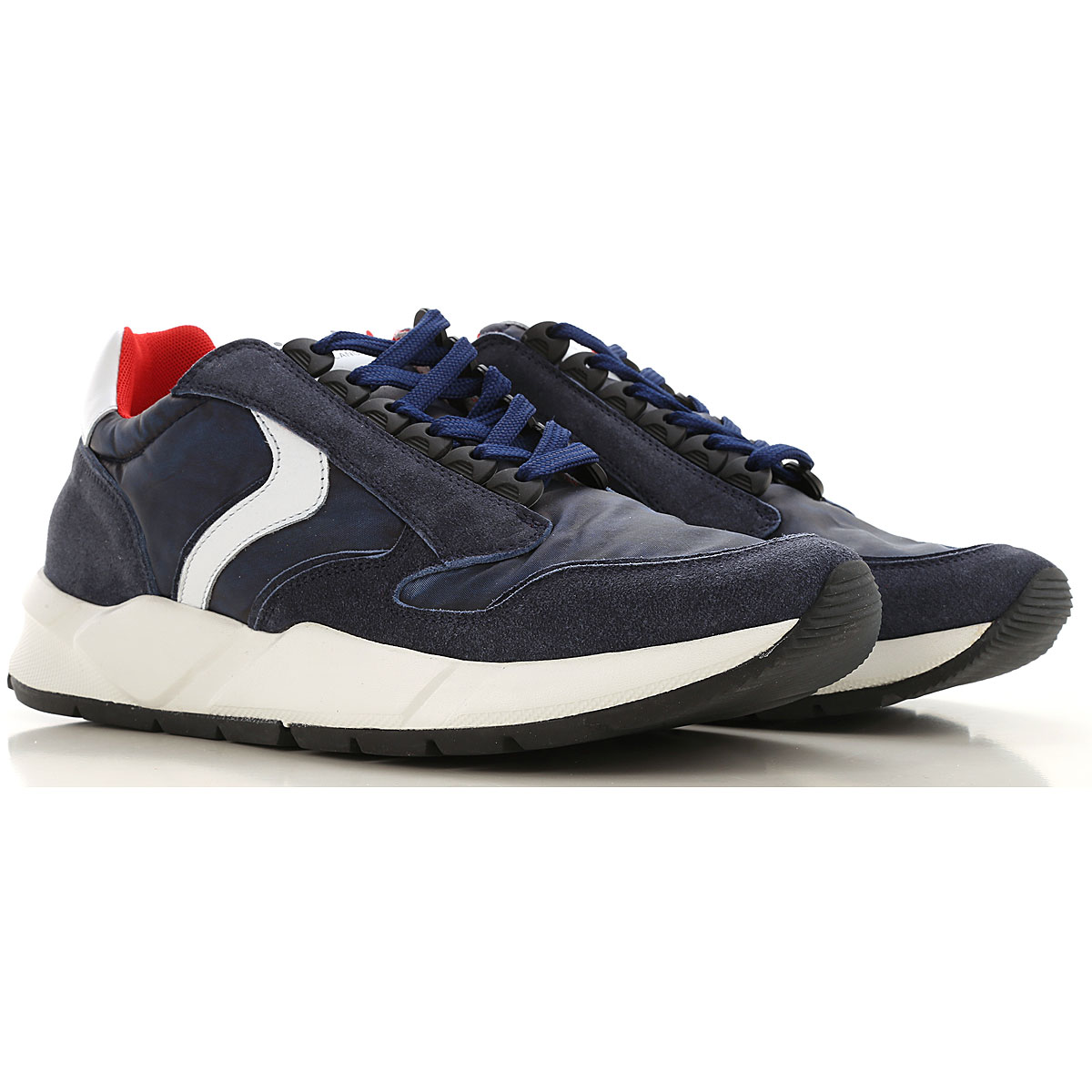 Voile Blanche Sneakers for Men On Sale, Blue, Suede leather, 2019, 10.5 7.5 9