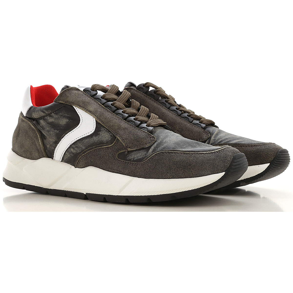 Voile Blanche Sneakers for Men On Sale, Military Green, Suede leather, 2019, 10.5 7.5 9