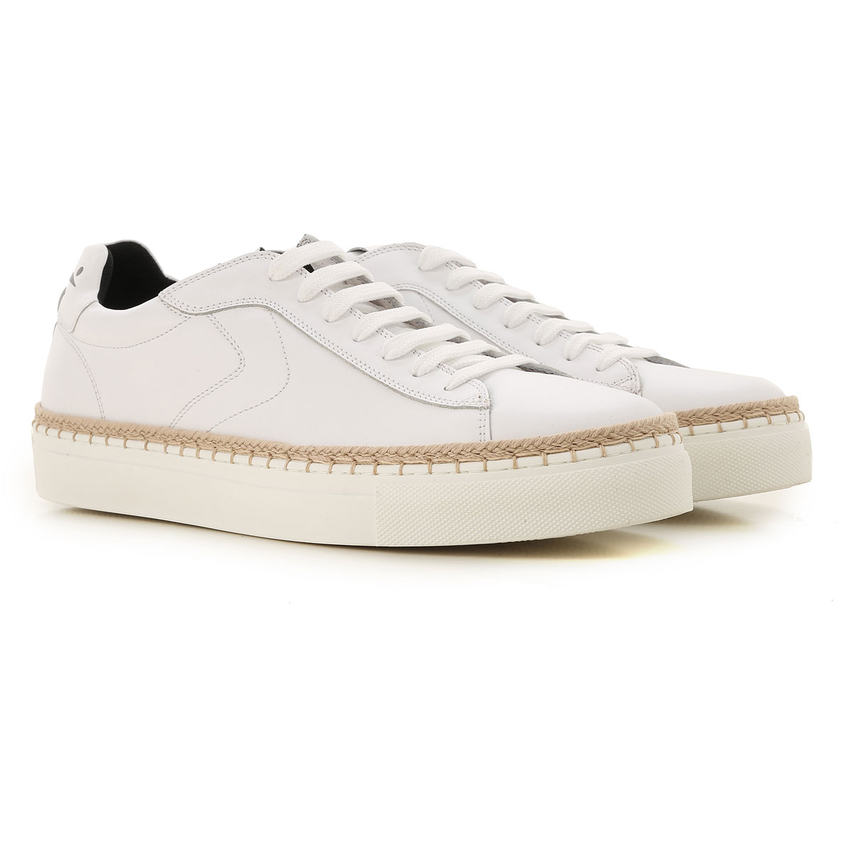 Voile Blanche Sneakers for Men On Sale, White, Leather, 2019, 11.5 7.5