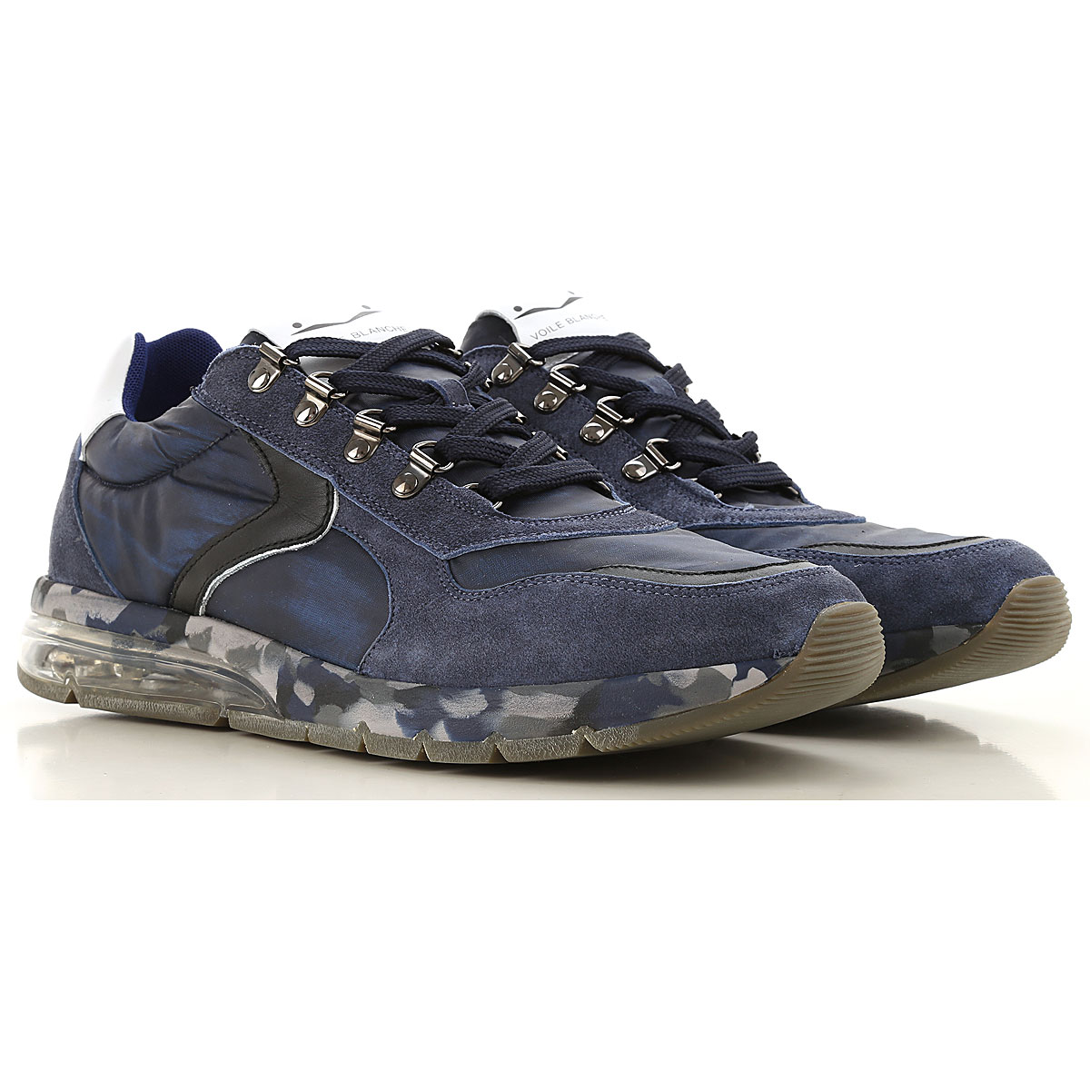 Voile Blanche Sneakers for Men On Sale, Blu Navy, Leather, 2019, 10 9