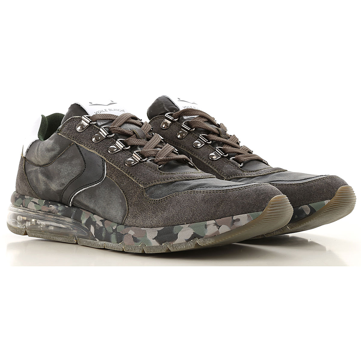 Voile Blanche Sneakers for Men On Sale, Dark Olive Green Shaded, Leather, 2019, 10 7.5 9
