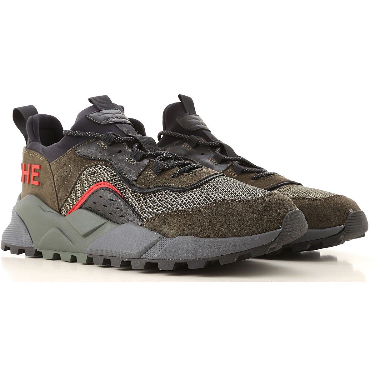 Voile Blanche Sneakers for Men On Sale, Green Olive, Textile, 2019, 10 9