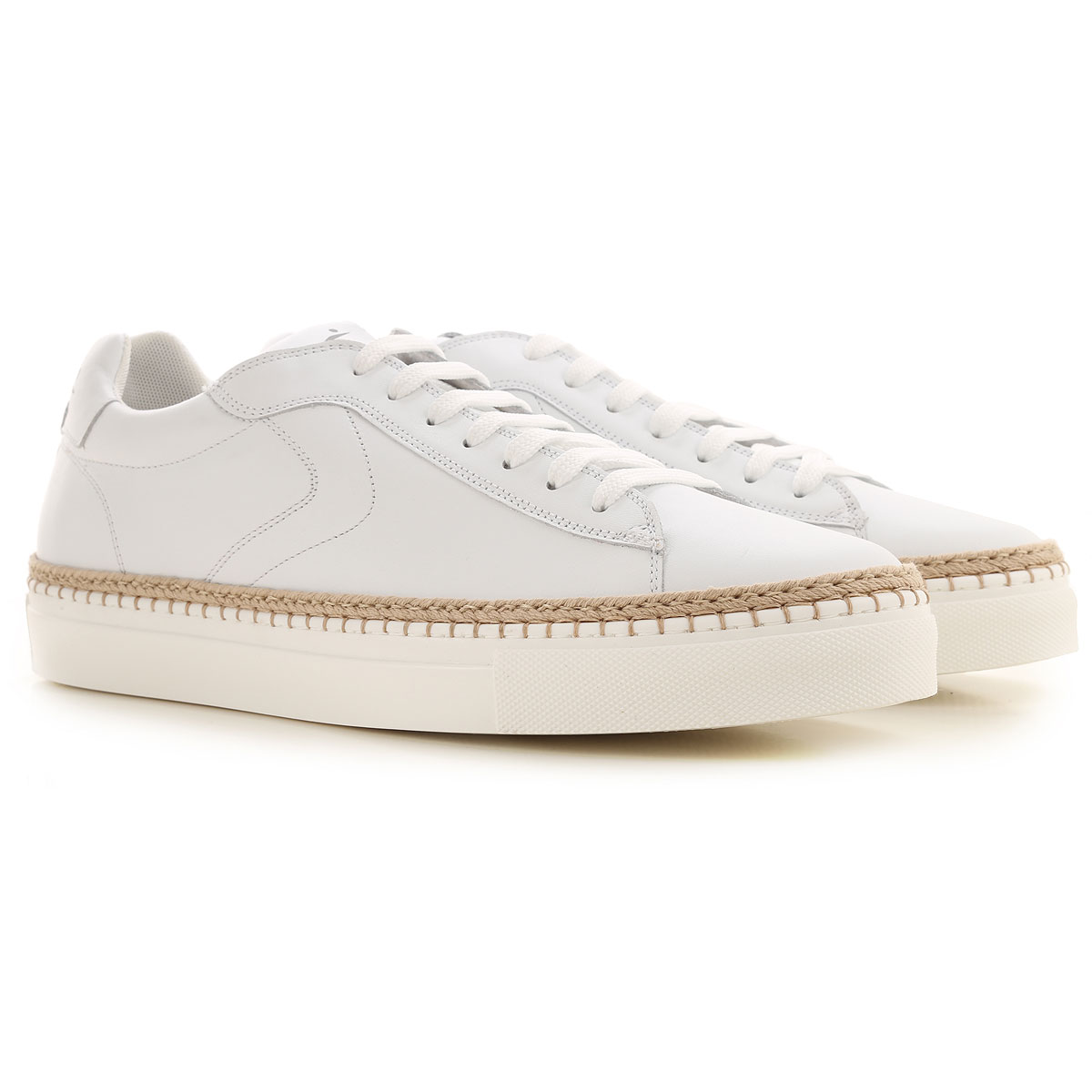 Voile Blanche Sneakers for Men On Sale in Outlet, White, Leather, 2019, 10.5 8