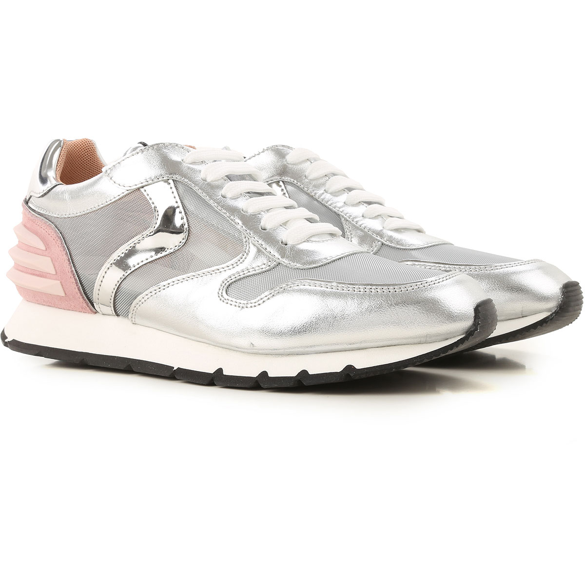 Voile Blanche Sneakers for Women On Sale, Silver, Leather, 2019, 7 9
