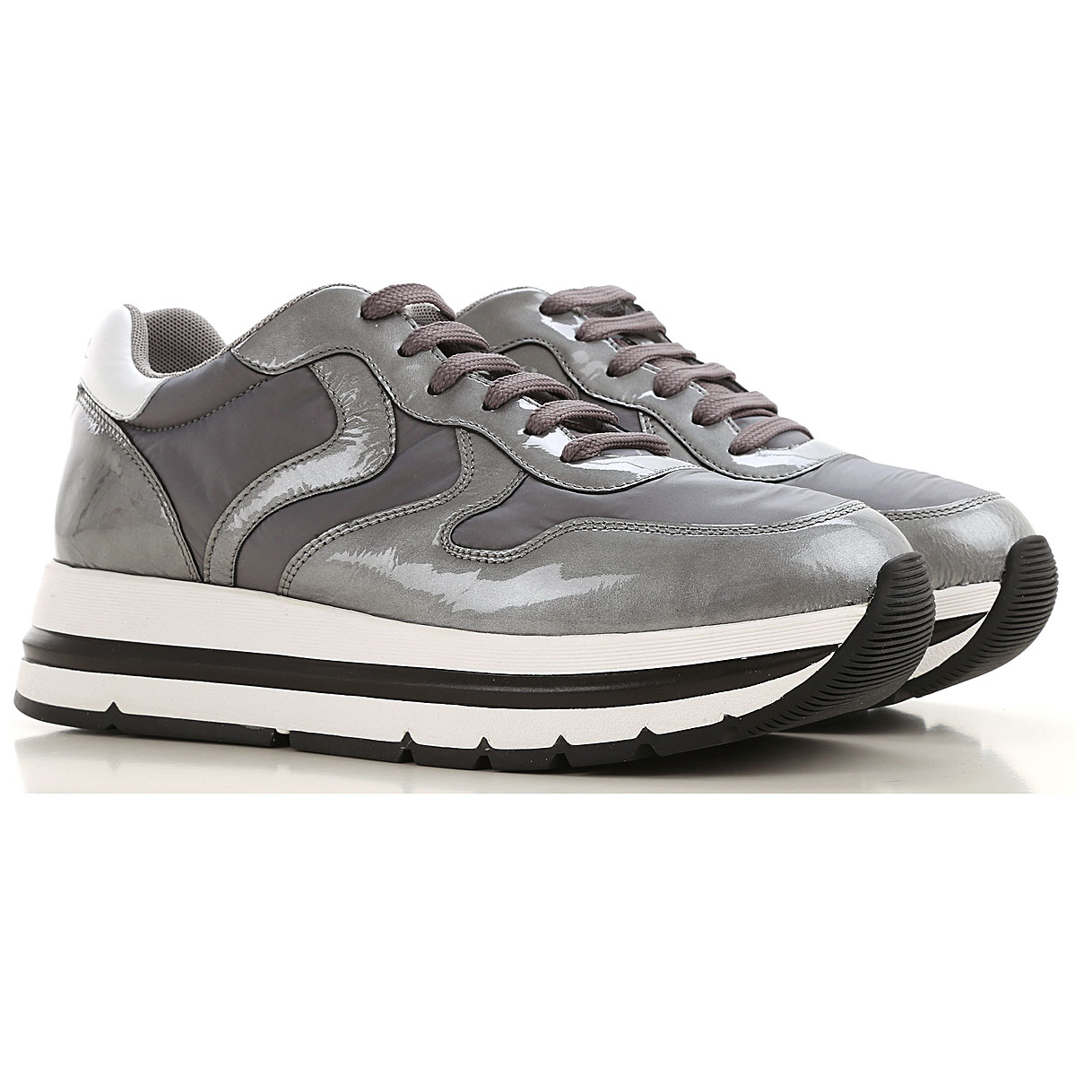 Voile Blanche Sneakers for Women On Sale, Anthracite, Leather, 2019, 7 8 9