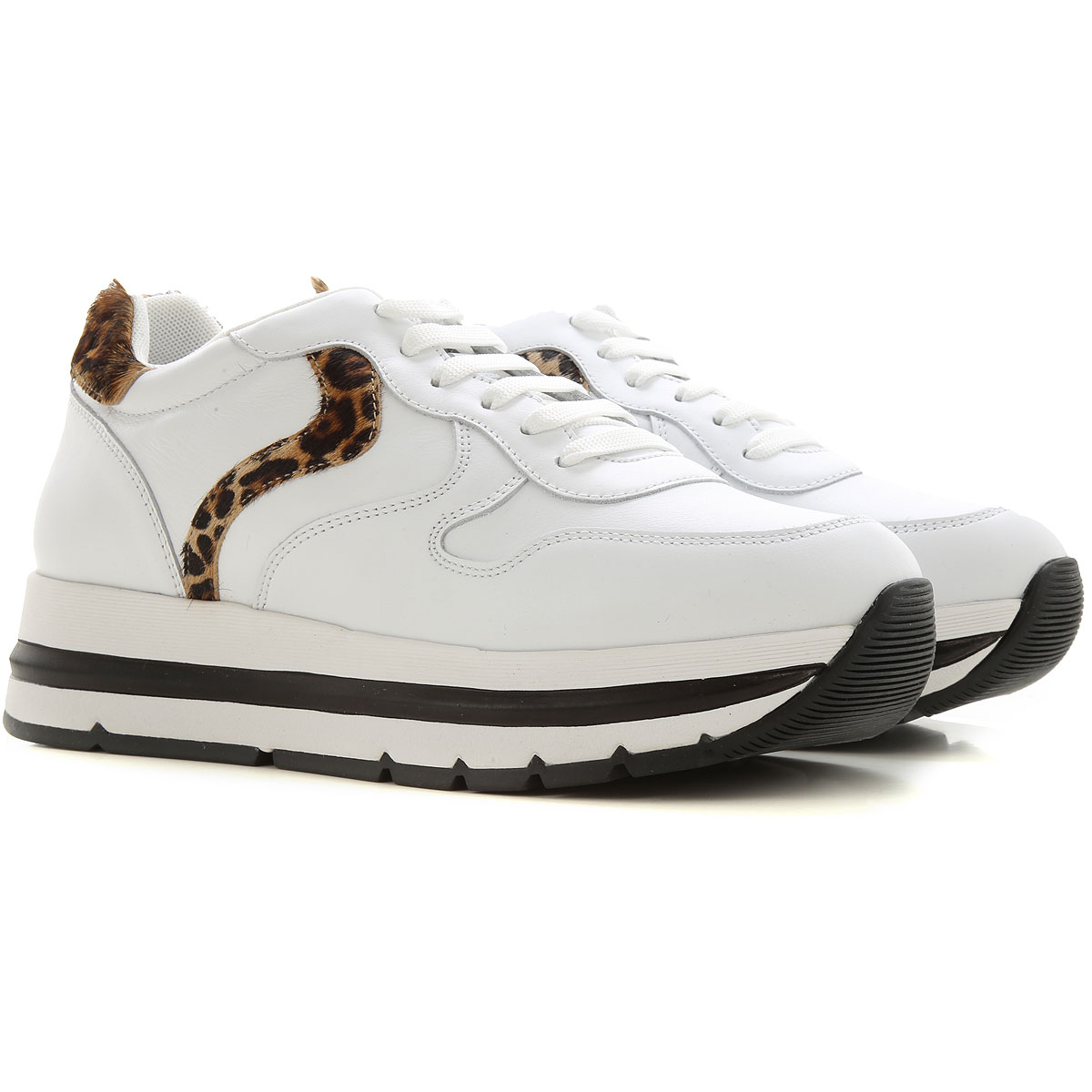 Voile Blanche Sneakers for Women On Sale, White, Leather, 2019, 6 7 8 9