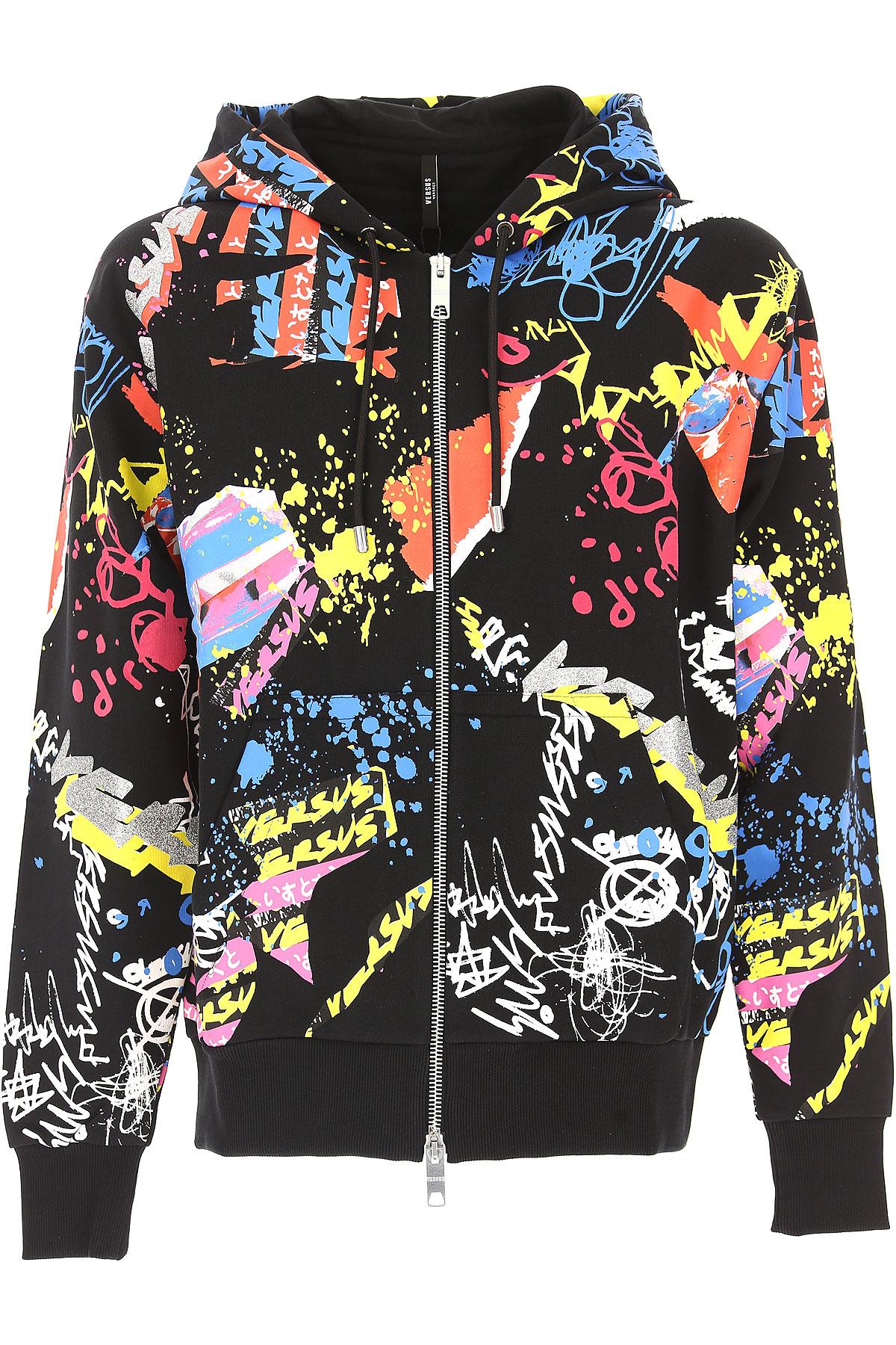Versace Sweatshirt for Men, Black, Cotton, 2017, L M S XL USA-441258