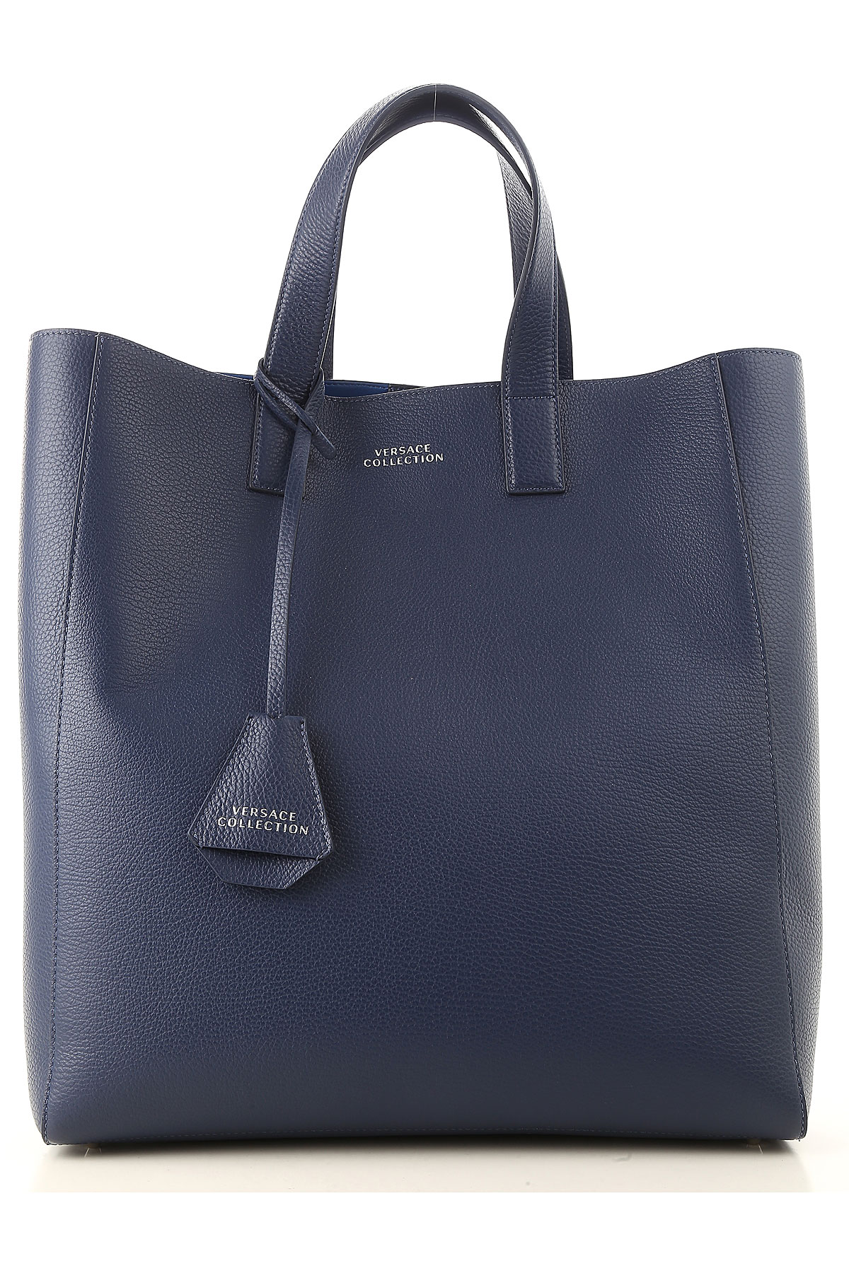 Image of Versace Totes, navy, Leather, 2017