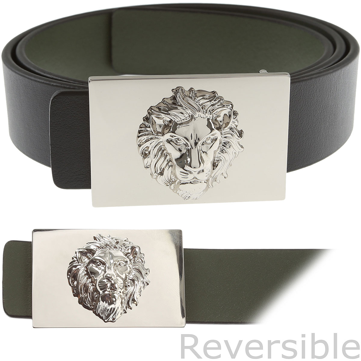 Gianni Versace Mens Belts On Sale, Reversible, Black, Leather, 2019, 34 38
