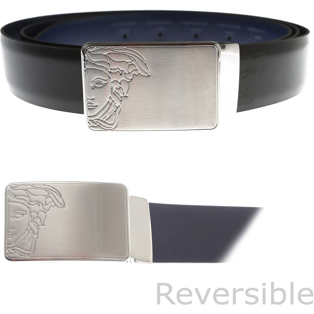 Image of Gianni Versace Belts, Reversible, Black, Leather, 2017