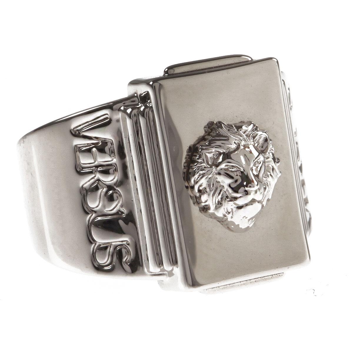 Image of Versace Ring for Men, Palladium, Brass, 2017, Medium Large X-Large