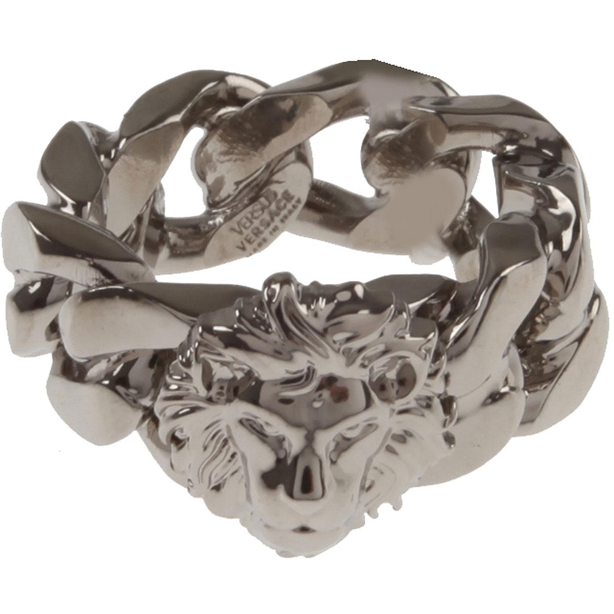 Image of Versace Ring for Men, Palladium, Brass, 2017, Small Medium Large X-Large