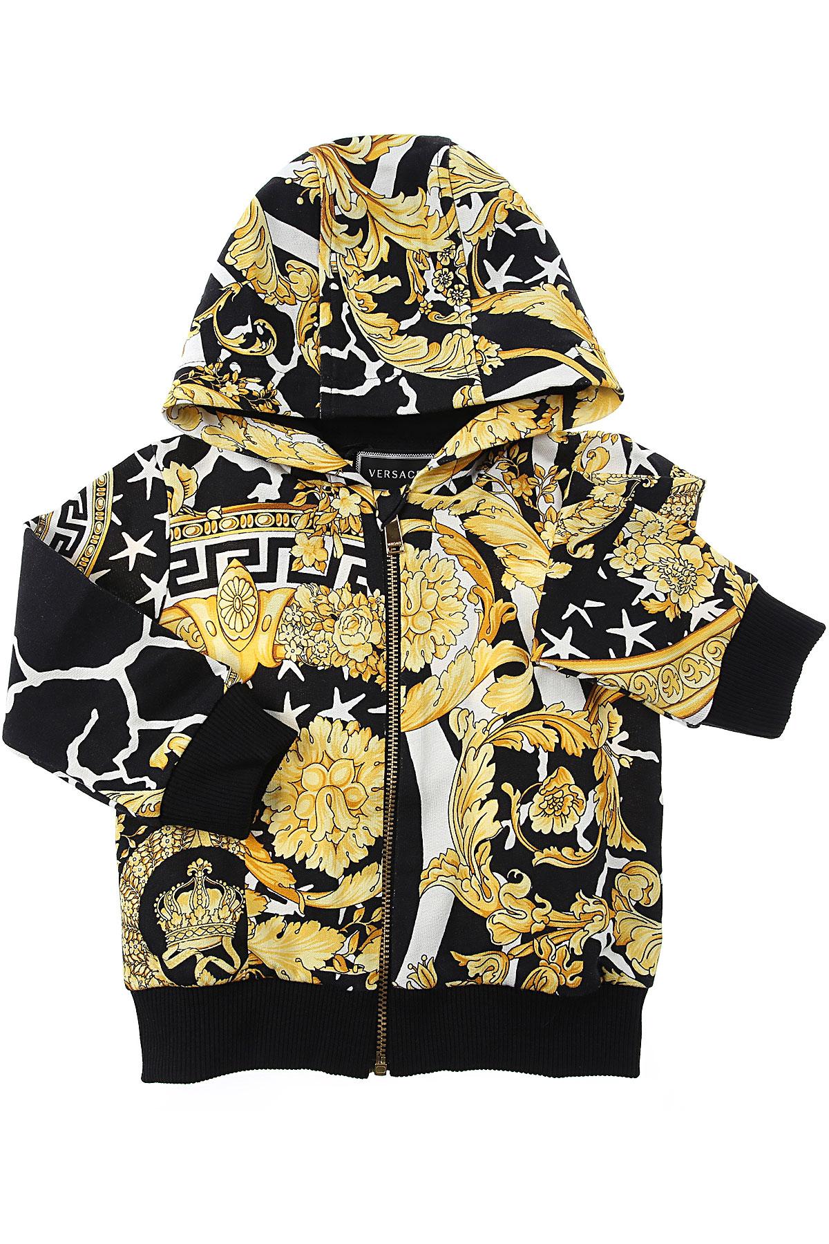 Versace Baby Sweatshirts & Hoodies for Boys On Sale, Black, Cotton, 2019, 18M 24M 2Y 3M
