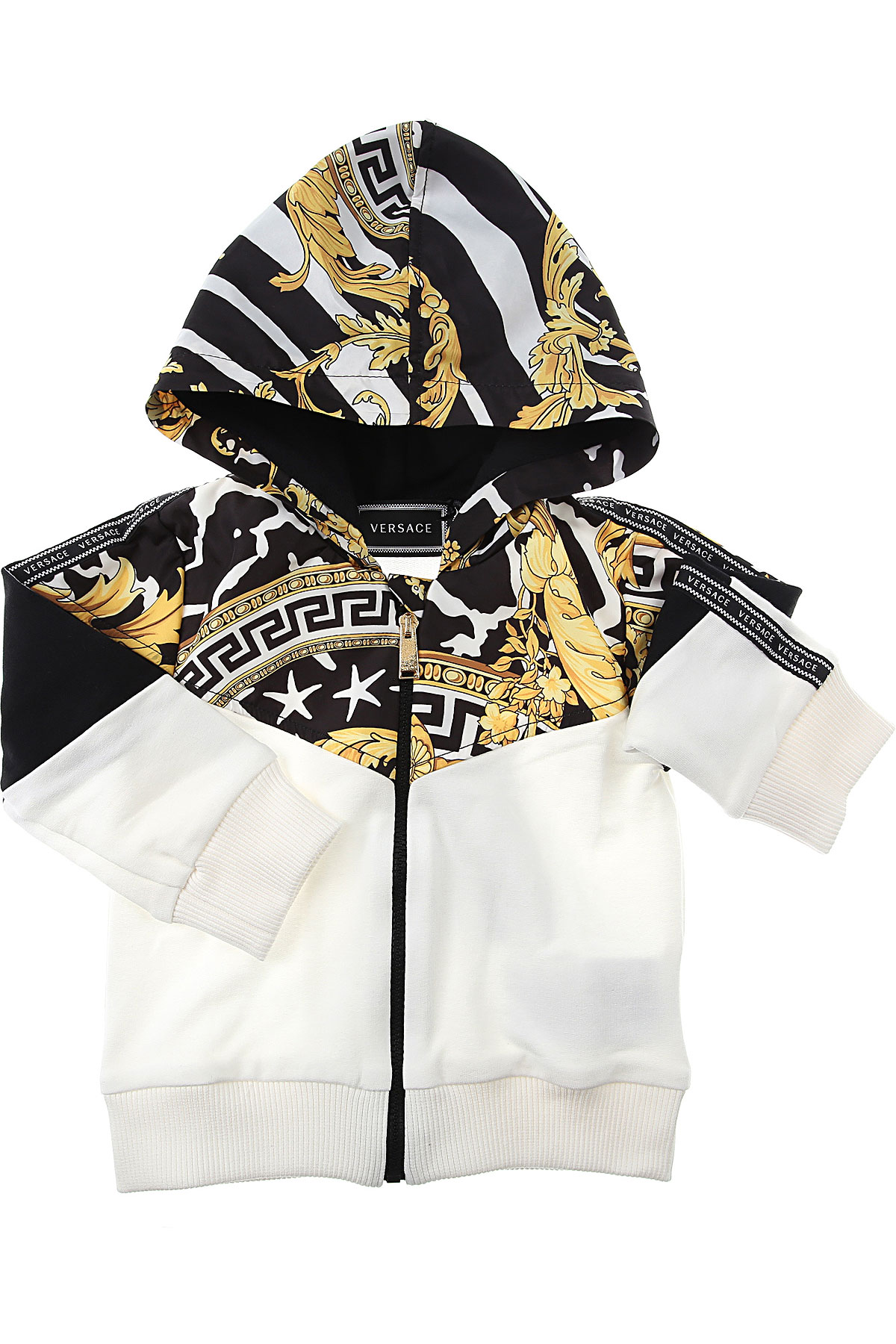 Versace Baby Sweatshirts & Hoodies for Boys On Sale, Black, Cotton, 2019, 12 M 18M 2Y 3M 6M 9M