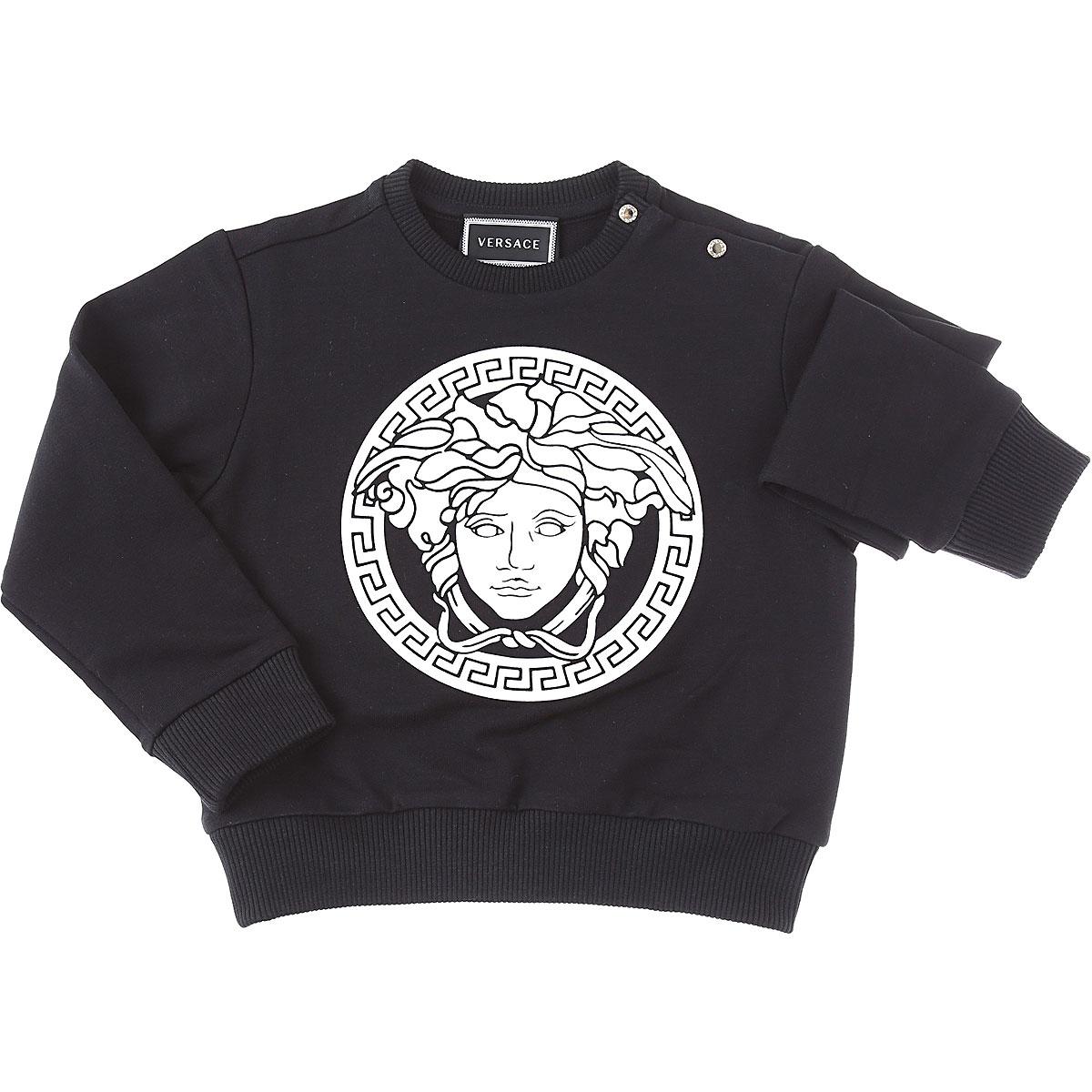 Versace Baby Sweatshirts & Hoodies for Boys On Sale, White, Cotton, 2019, 12 M 18M 24M