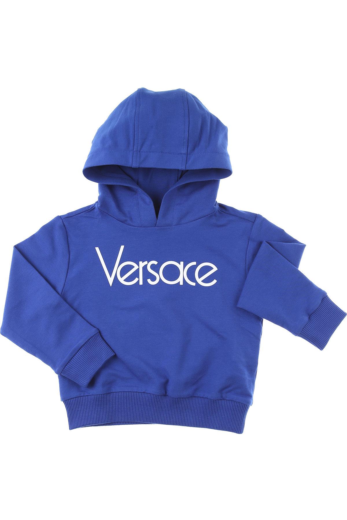 Versace Baby Sweatshirts & Hoodies for Boys On Sale, Blue, Cotton, 2019, 18M 24M 2Y 3Y