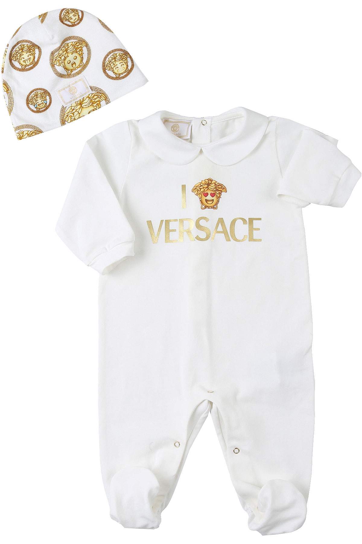 Versace Baby Sets for Boys On Sale, White, Cotton, 2019, 3M 6M