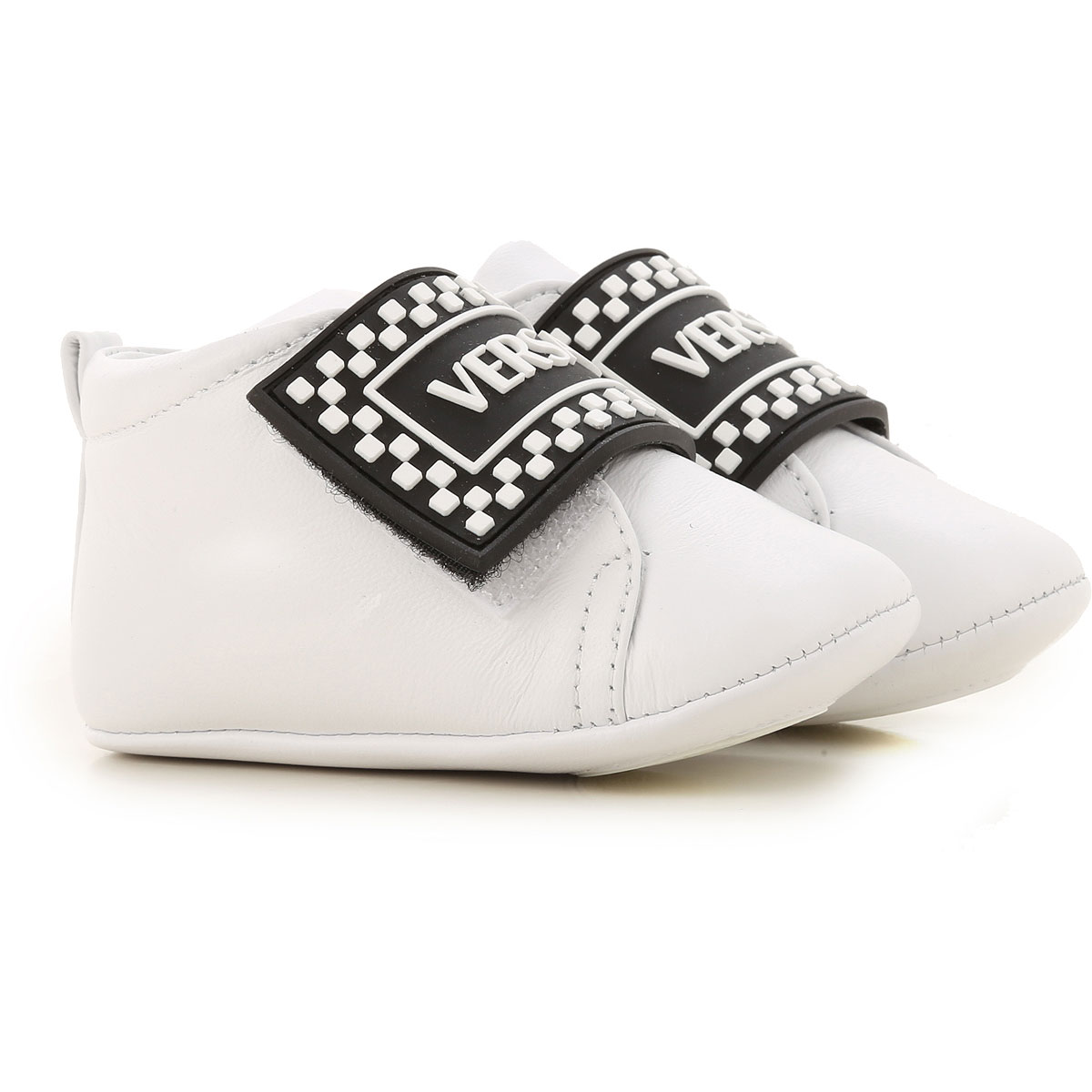 Versace Baby Shoes for Boys On Sale, White, Leather, 2019, 0C 1C 2.5C 2C