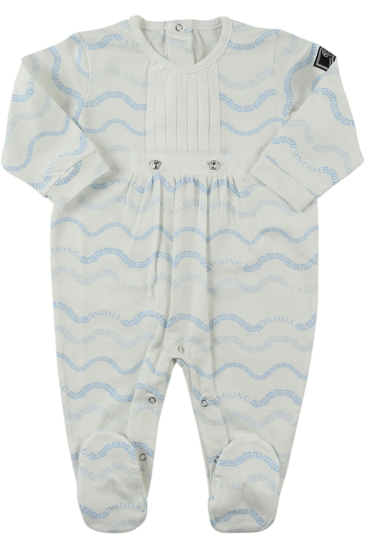 Image of Versace Baby Bodysuits & Onesies for Boys, White, Cotton, 2017, 1M 3M 6M