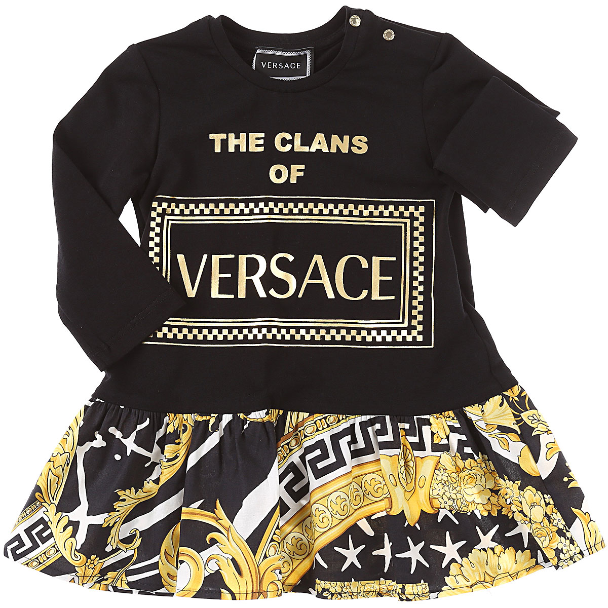 Versace Baby Dress for Girls On Sale, Black, Cotton, 2019, 18M 24M 3Y