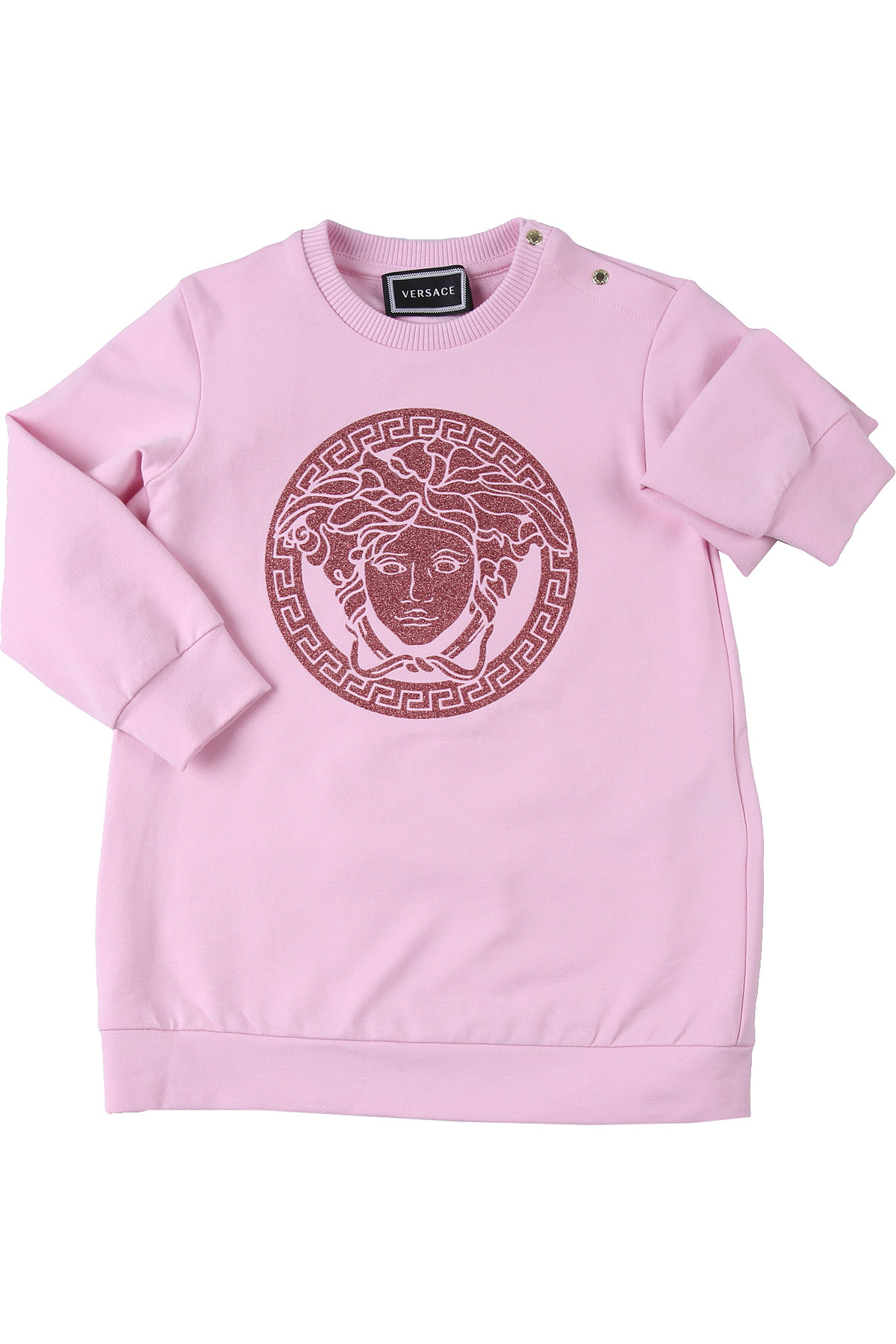 Versace Baby Dress for Girls On Sale, Pink, Cotton, 2019, 12M 18M 24M 2Y 3Y