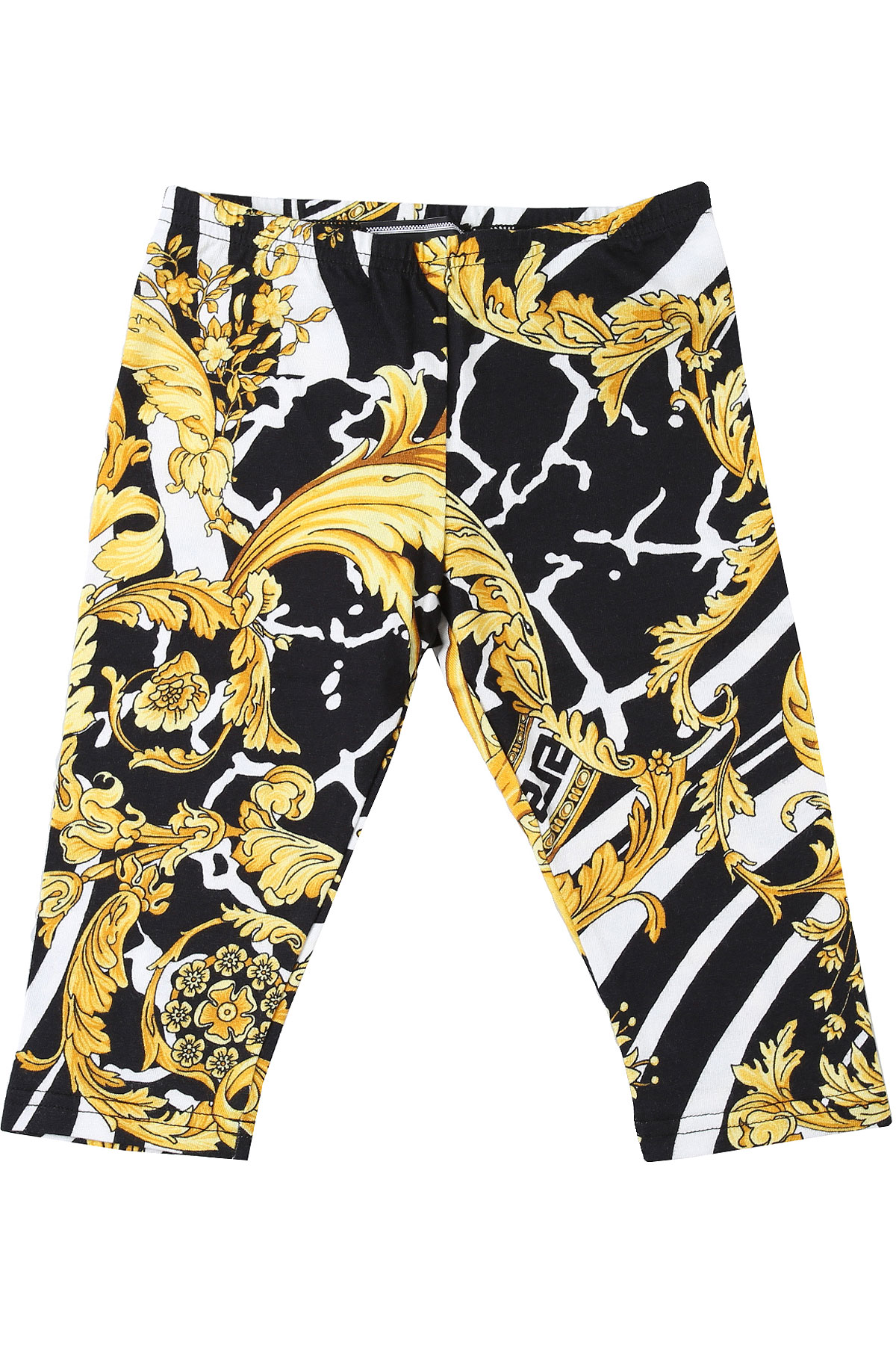 Versace Baby Pants for Girls On Sale, White, Cotton, 2019, 12M 18M 24M 6M 9M