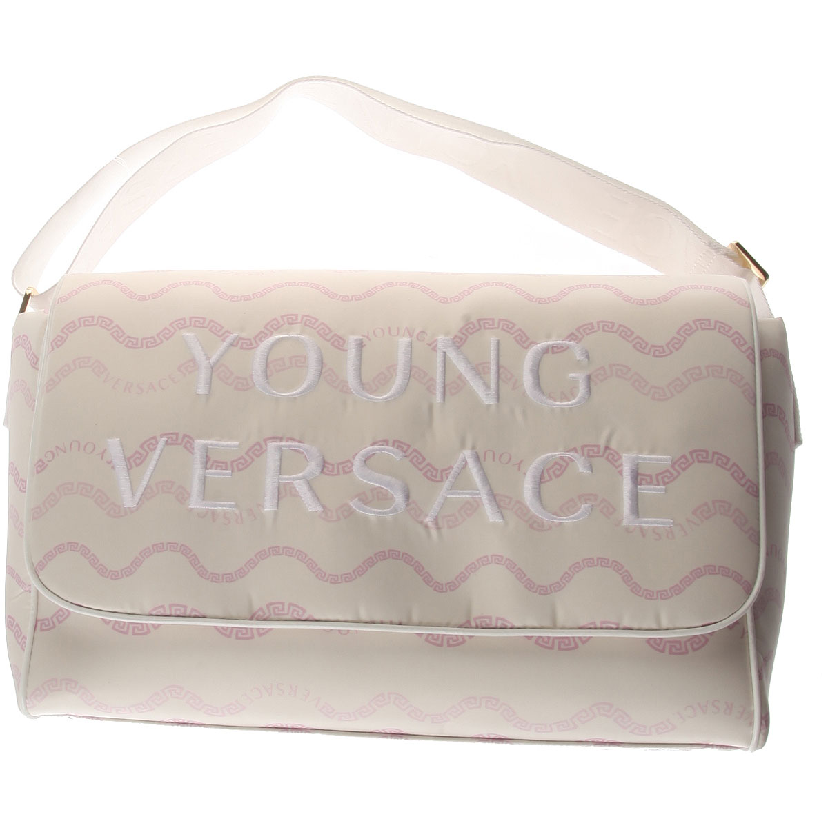 Image of Versace Baby Girls Handbag, White, Nylon, 2017