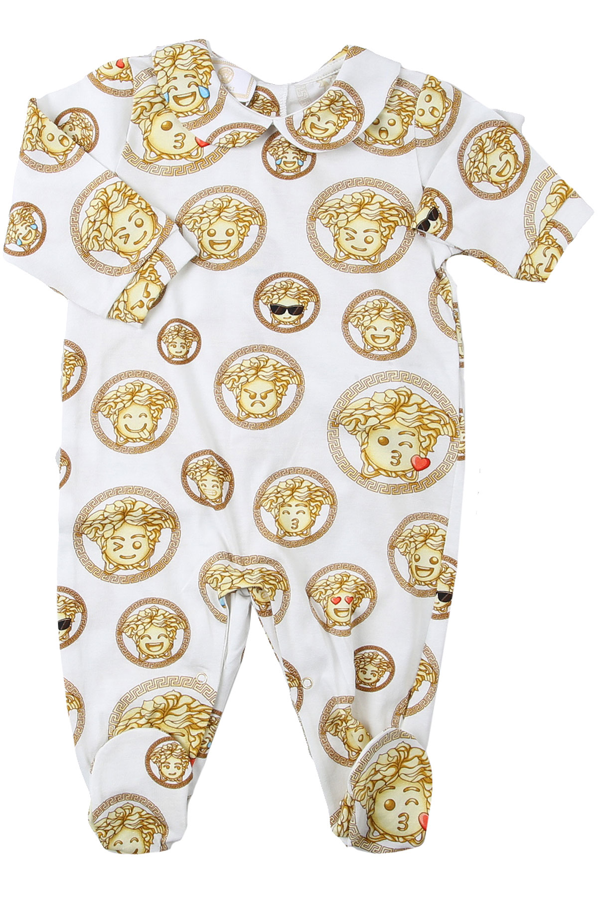 Versace Baby Bodysuits & Onesies for Girls On Sale, White, Cotton, 2019, 6M 9M