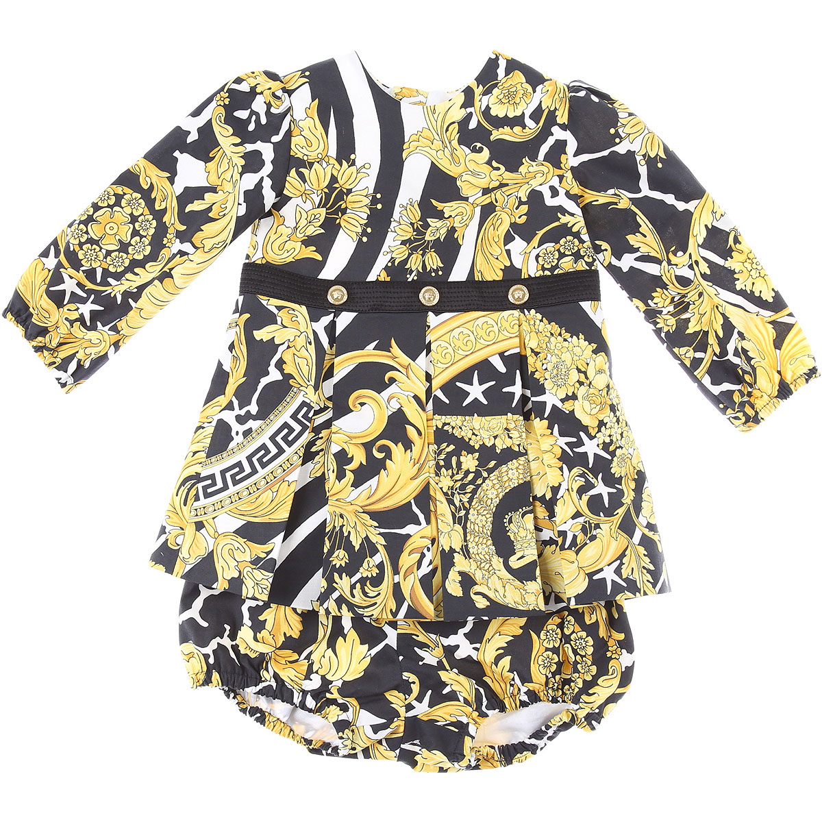 Versace Baby Sets for Girls On Sale, Gold, Cotton, 2019, 12M 18M
