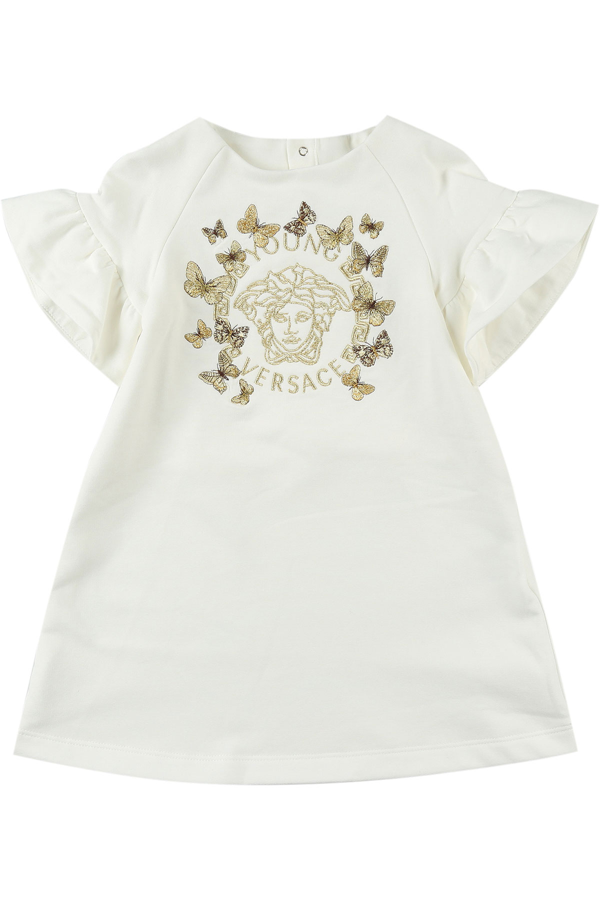 Image of Versace Baby Dress for Girls, White, Cotton, 2017, 12M 18M 2Y 3Y 6M