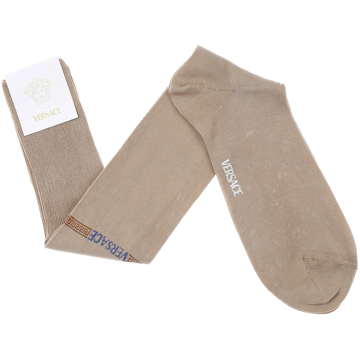 Versace Socks Socks for Men On Sale, Beige, Cotton, 2019, 12 (Shoe Size: EU 44 - US 10) 13 (Shoe Size: EU 45 - US 11)