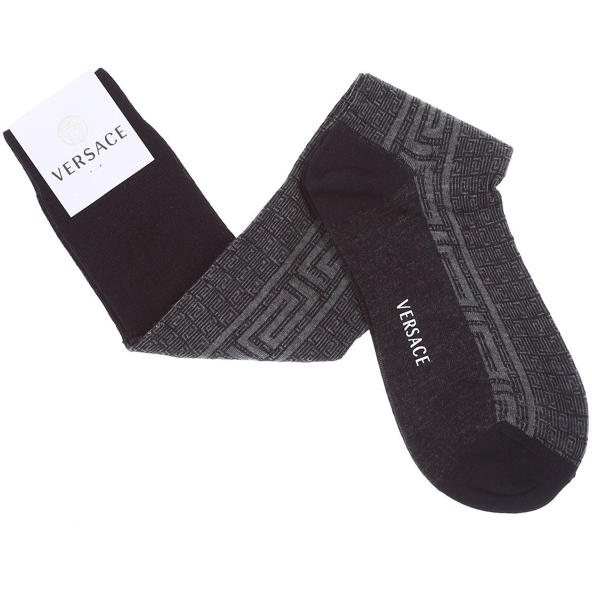 Versace Socks Socks for Men On Sale, Black, Wool, 2019, 10 (Shoe Size: EU 42 - US 8) 11 (Shoe Size: EU 43 - US 9)