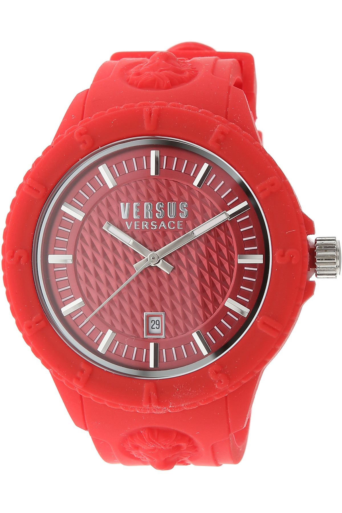 Versace_Watch_for_Women_On_Sale,_Red,_Rubber,_2019