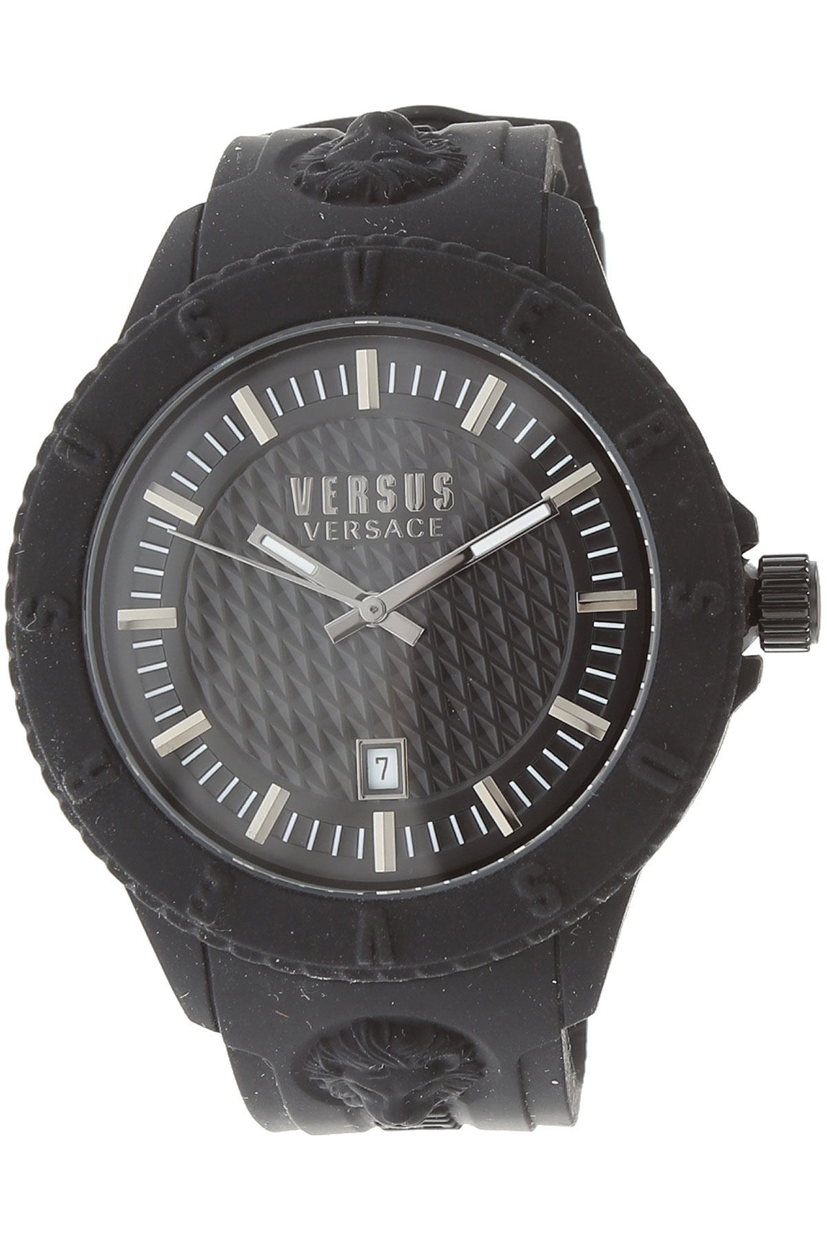 Versace_Watch_for_Women_On_Sale,_Black,_Rubber,_2019