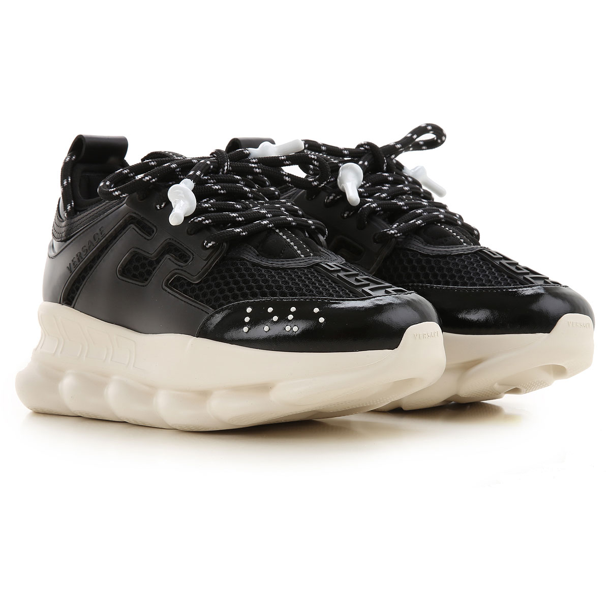 Gianni Versace Sneakers for Women On Sale, Black, Leather, 2019, 10 6 8 8.5