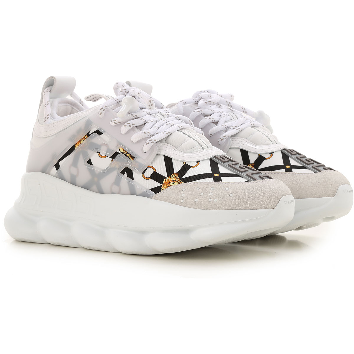 Gianni Versace Sneakers for Women On Sale, White, Leather, 2019, 10 11 5.5 6 7 8.5 9