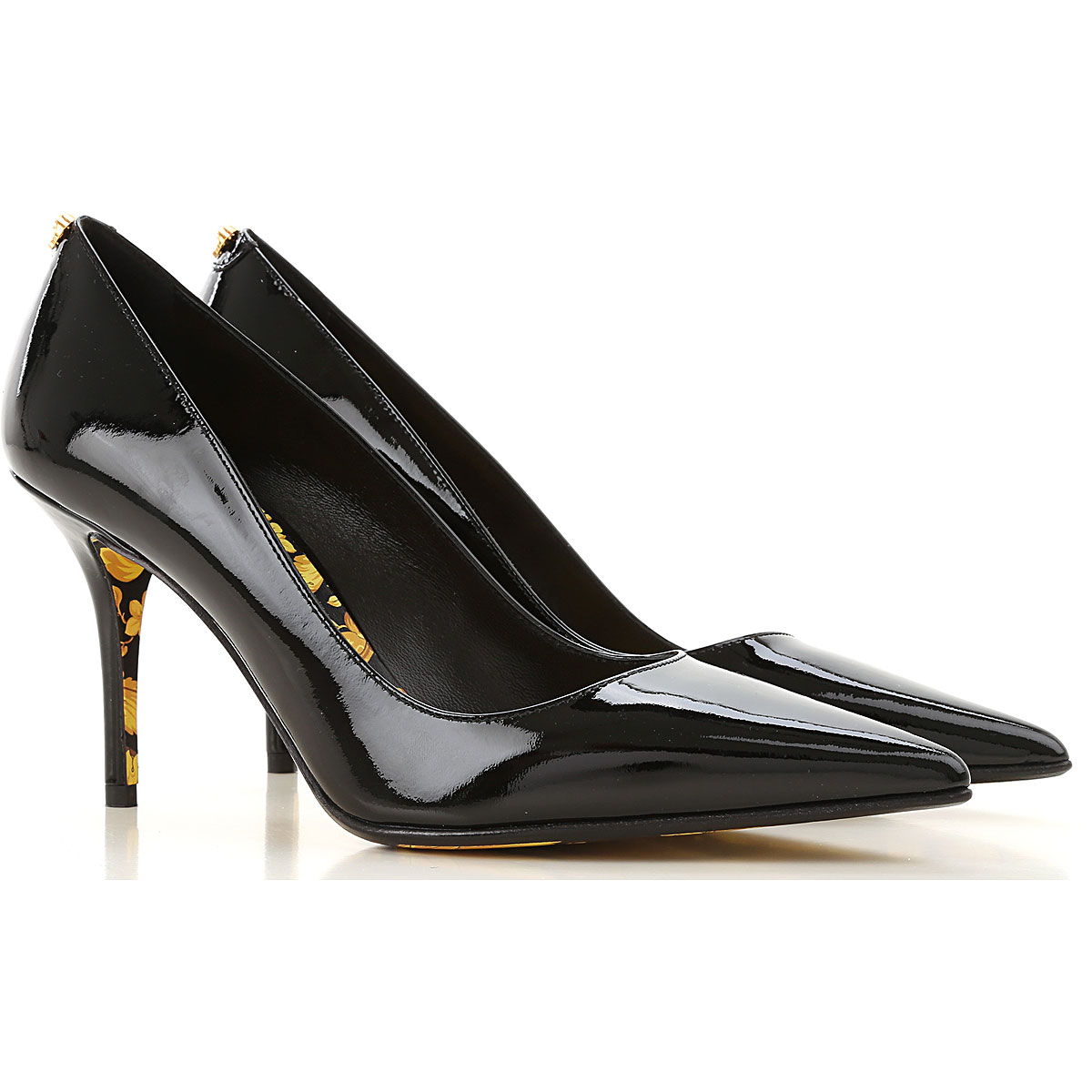 Gianni Versace Pumps & High Heels for Women On Sale, Black, Patent, 2019, 7 8 9
