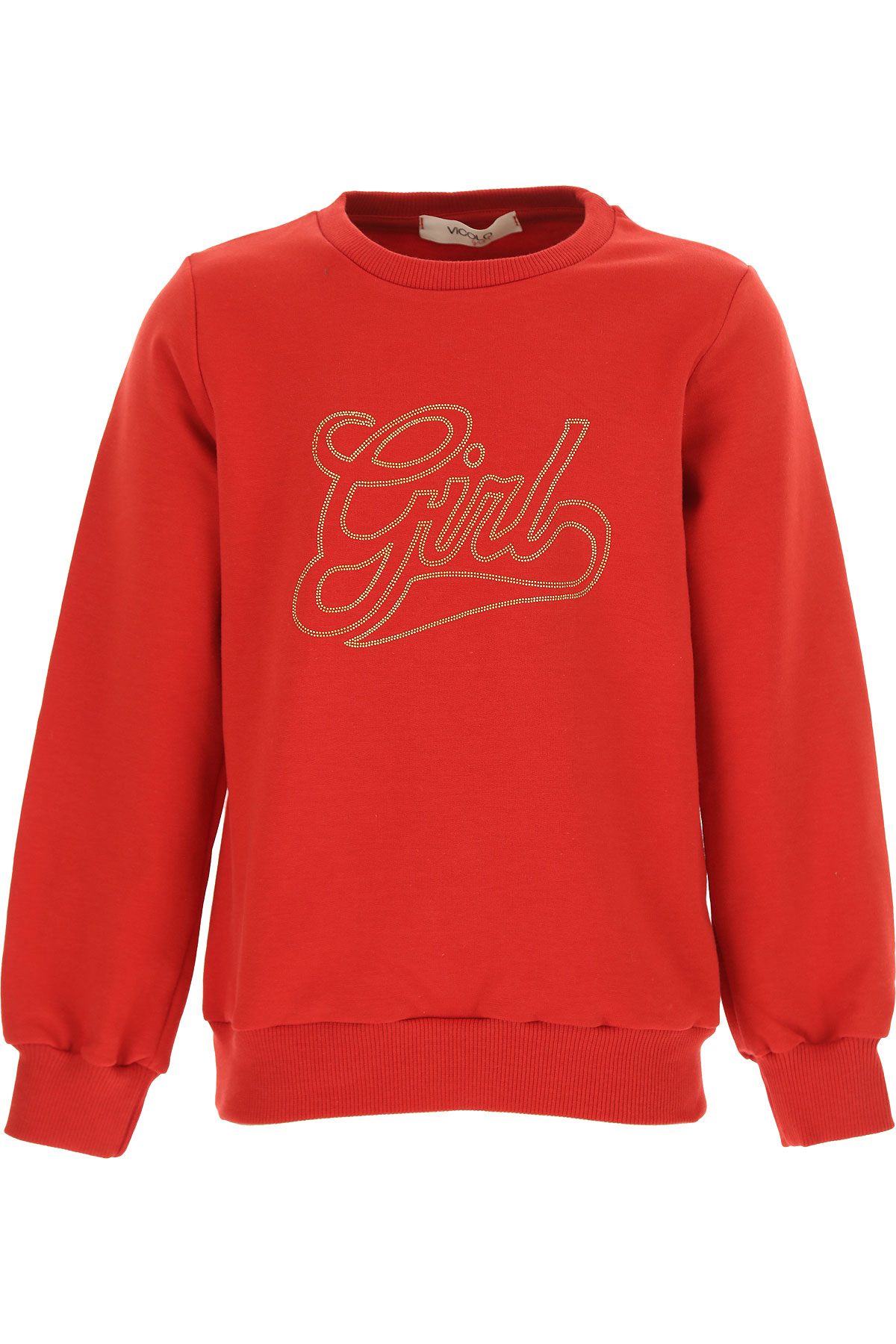 Vicolo Kids Sweaters for Girls On Sale, Red, Cotton, 2019, 12Y 14Y 6Y 8Y