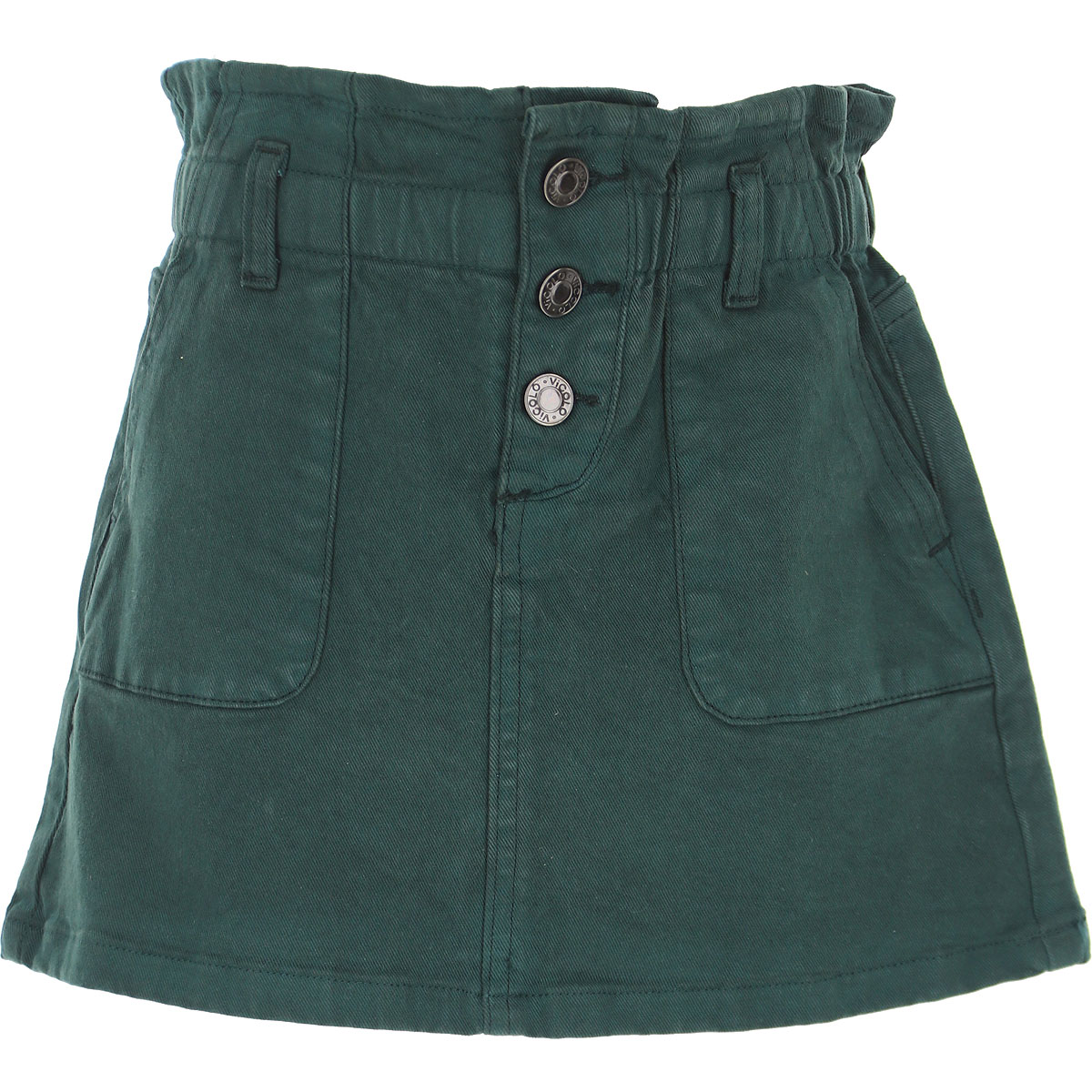 Vicolo Kids Shorts for Girls On Sale, Autumn Green, Cotton, 2019, 12Y 14Y 6Y