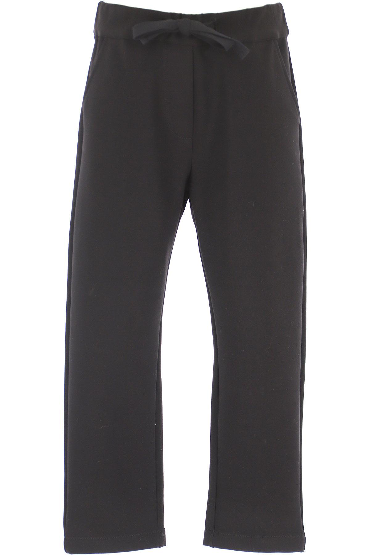 Vicolo Kids Sweatpants for Girls On Sale, Black, Cotton, 2019, 12Y 6Y 8Y