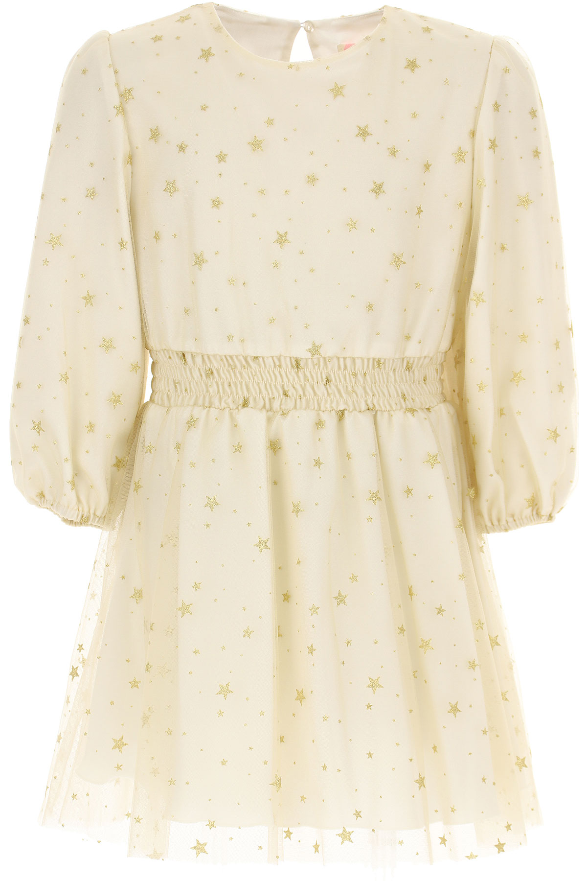 Vicolo Girls Dress On Sale, Ivory, polyester, 2019, 4Y 8Y
