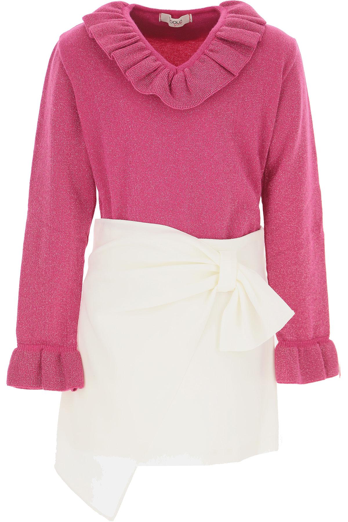 Vicolo Kids Sweaters for Girls On Sale, Fuchsia Lurex, Viscose, 2019, 4Y 6Y 8Y