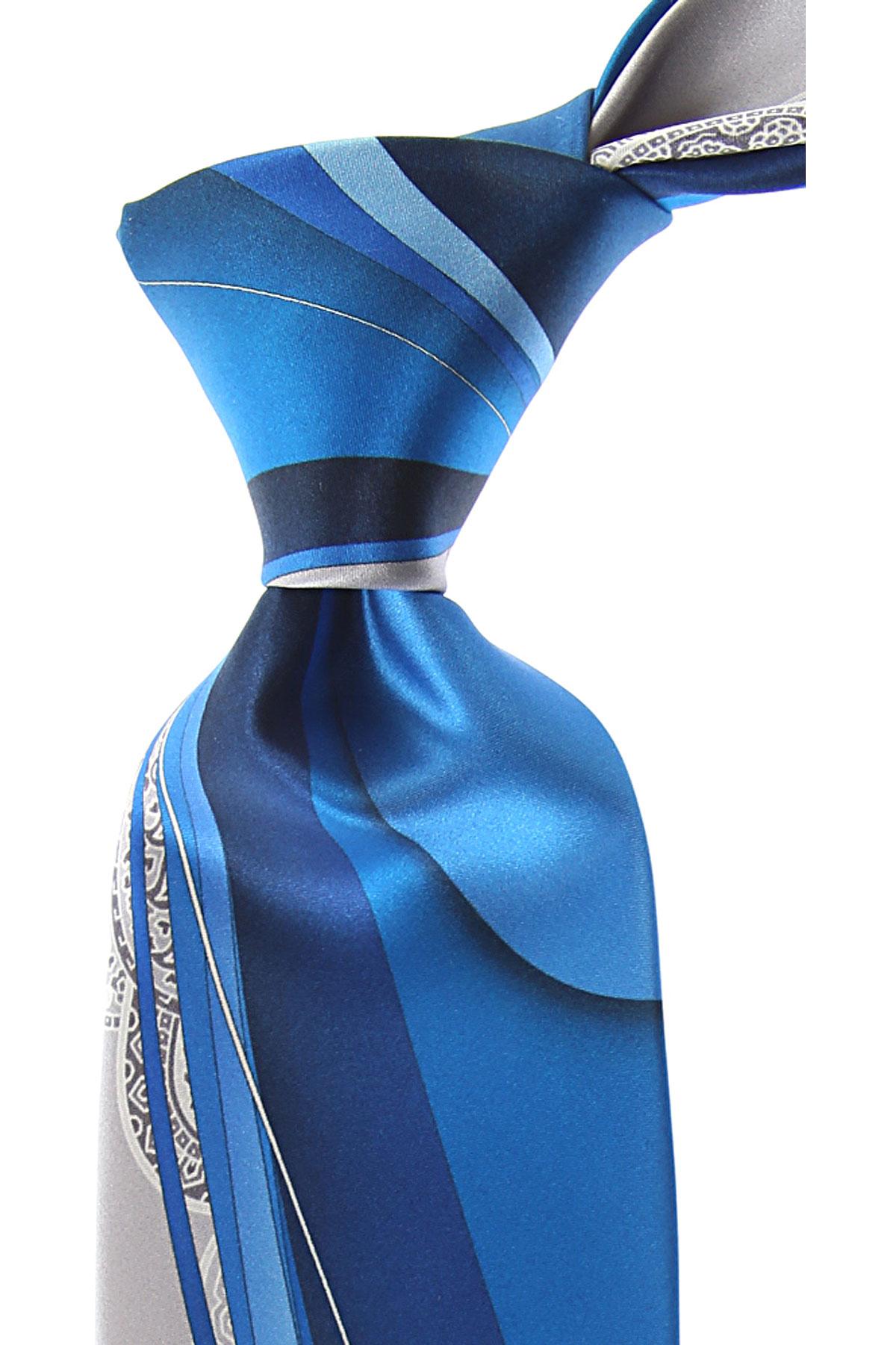 Vitaliano Pancaldi Cravates Pas cher en Soldes, Bleu électrique, Soie, 2017