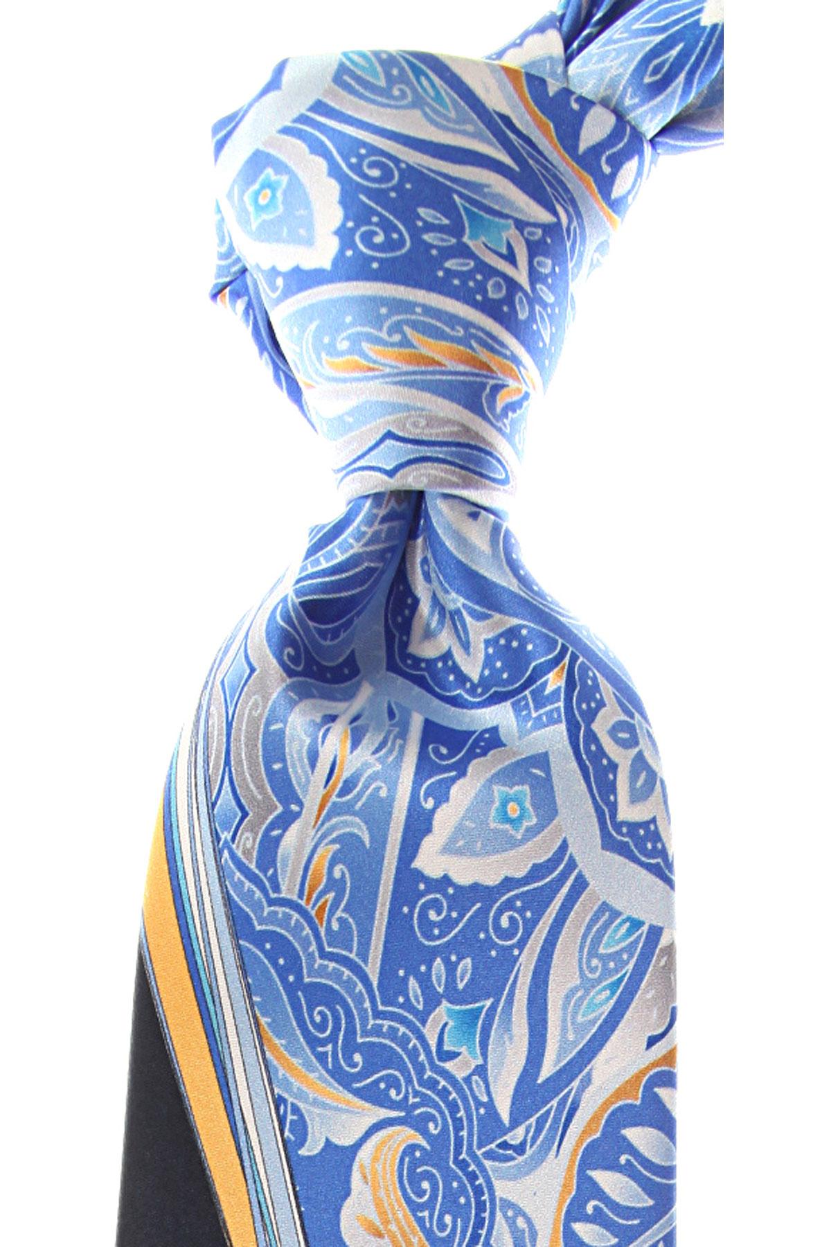 Pancaldi Ties On Sale, Azure Blue, Silk, 2019