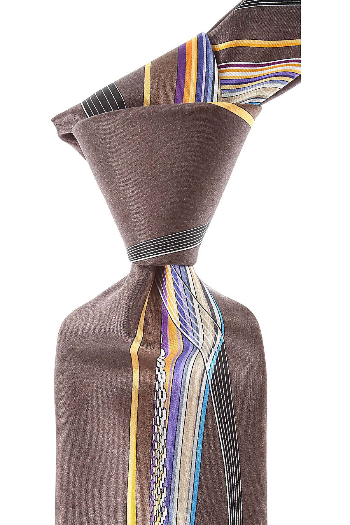 Pancaldi Ties On Sale, Chocolate Brown, Silk, 2019