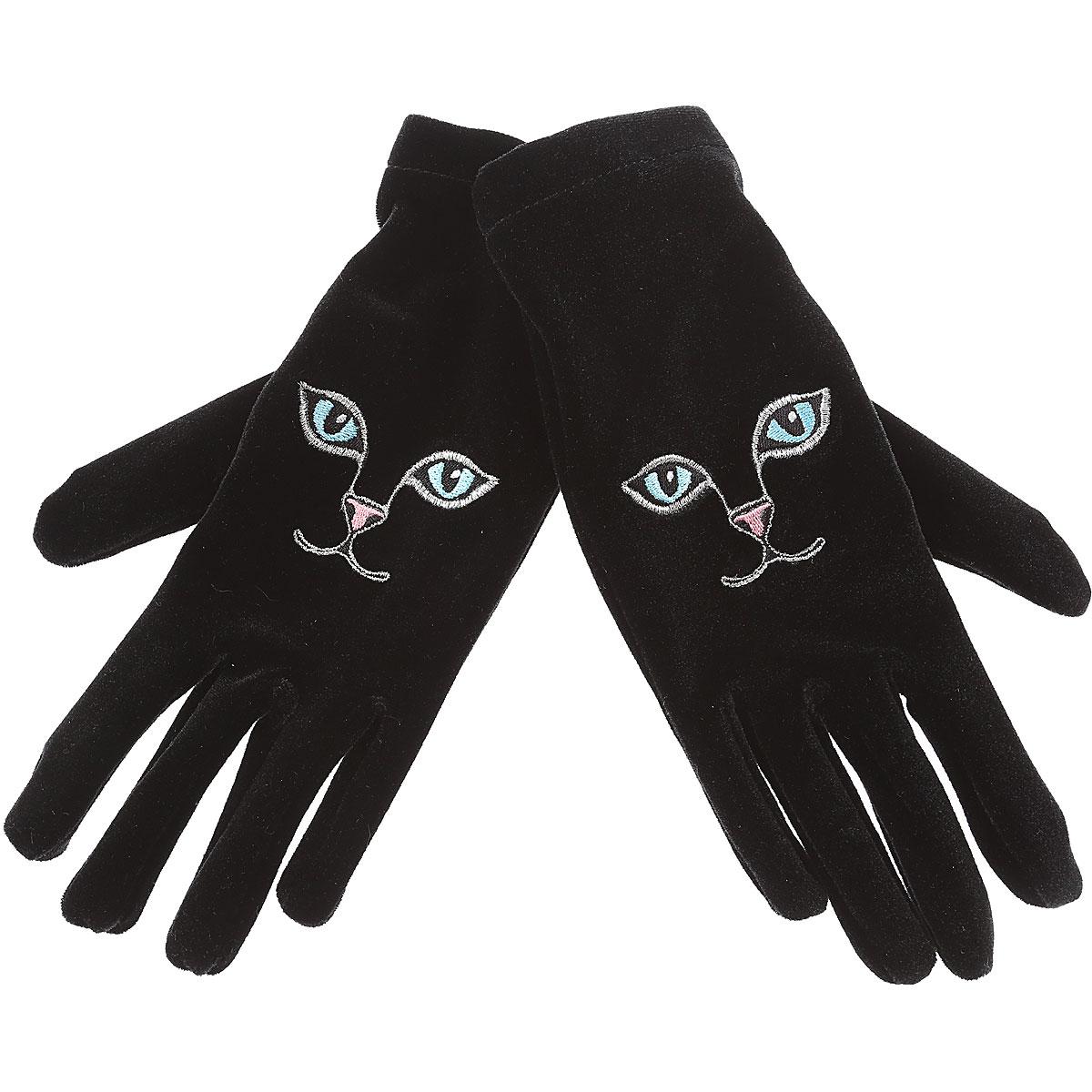 Image of Vivetta Gloves for Women, Black, polyester, 2017