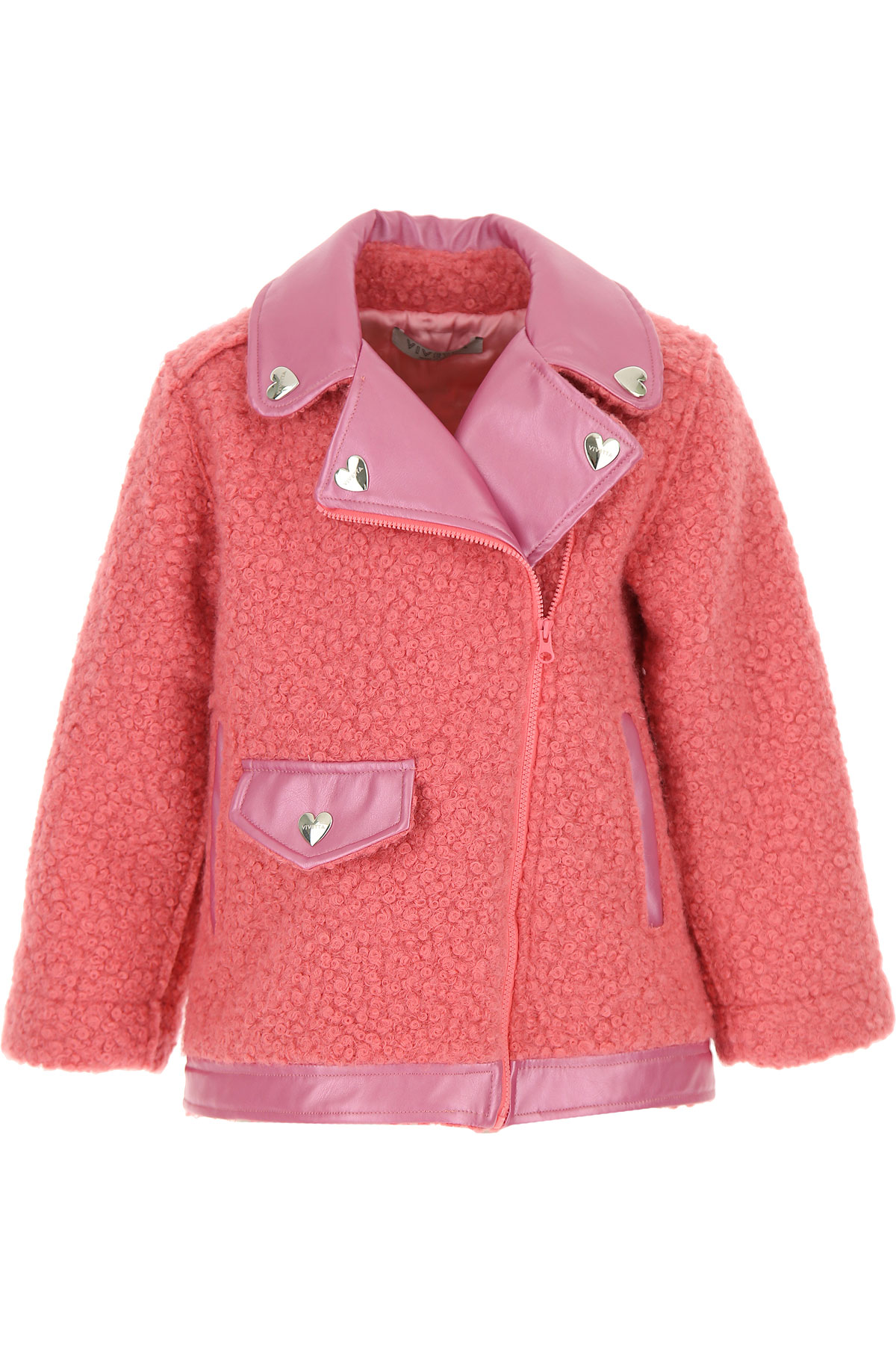 Vivetta Kids Jacket for Girls On Sale, Pink, polyester, 2019, 2Y 6Y 8Y