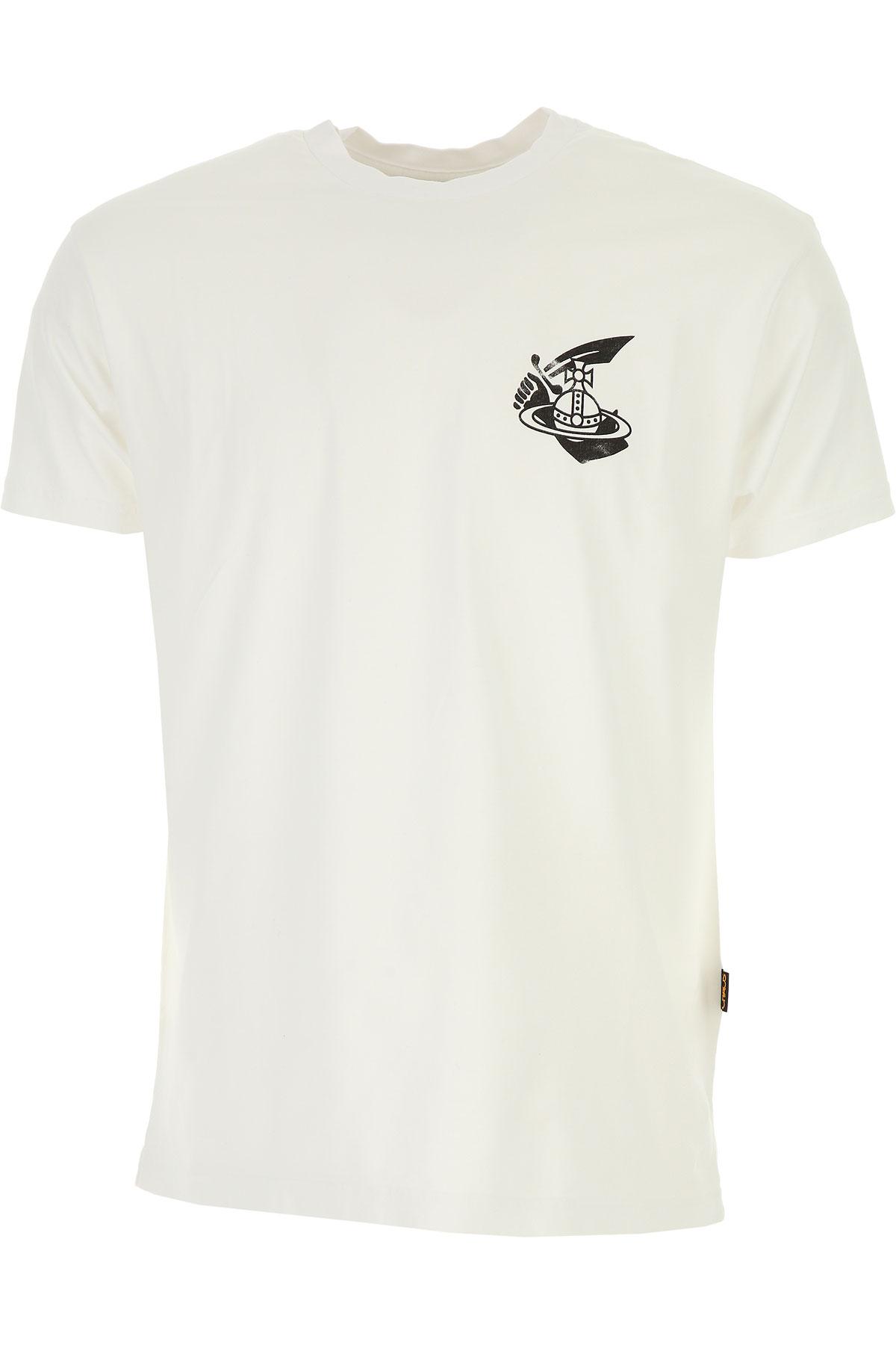 Vivienne Westwood T-shirt Homme Pas Cher En Soldes, Anglomania, Blanc, Coton, 2019, L XXL
